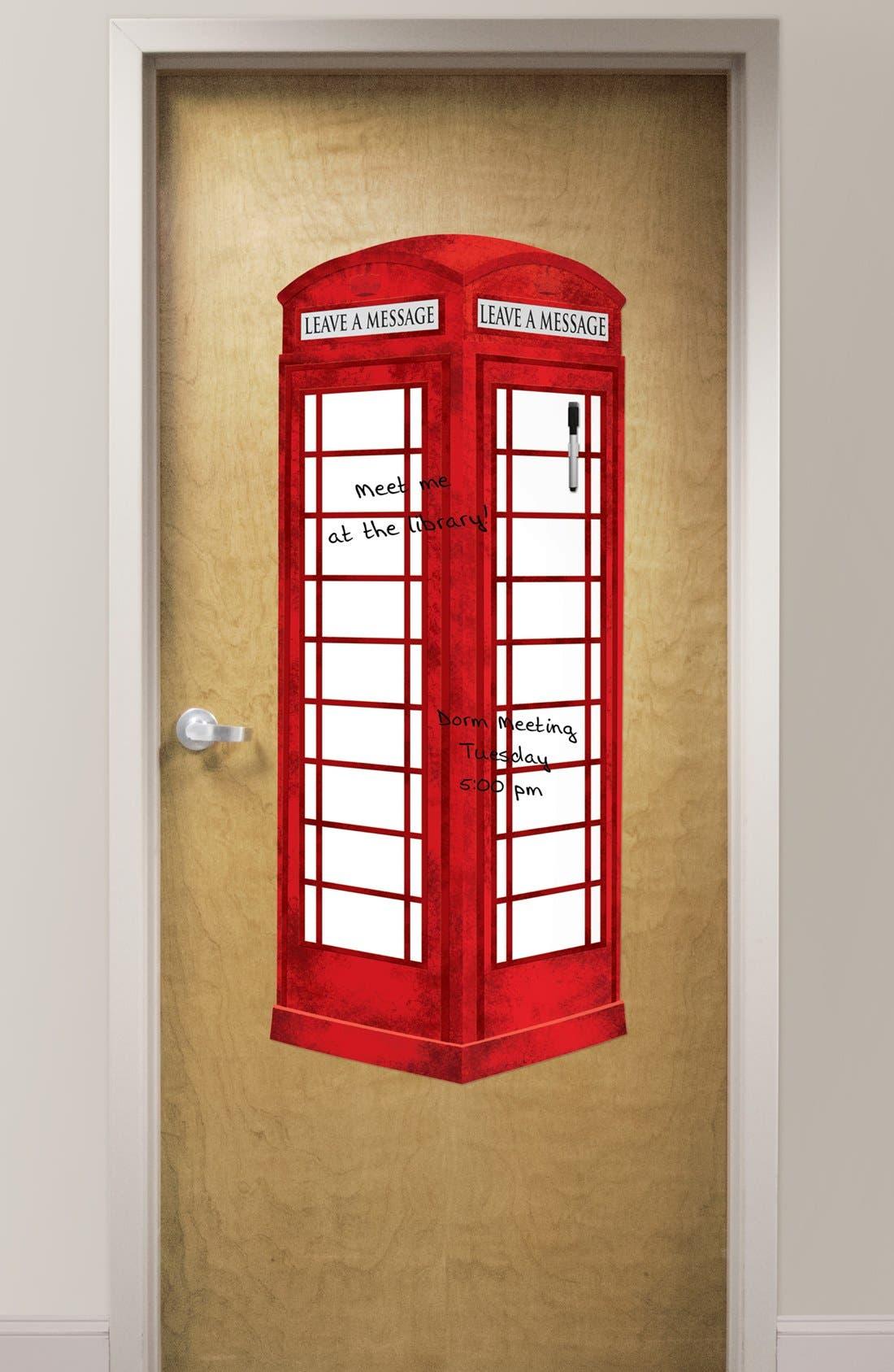 Main Image - Wallpops London Phone Booth Dry Erase Board