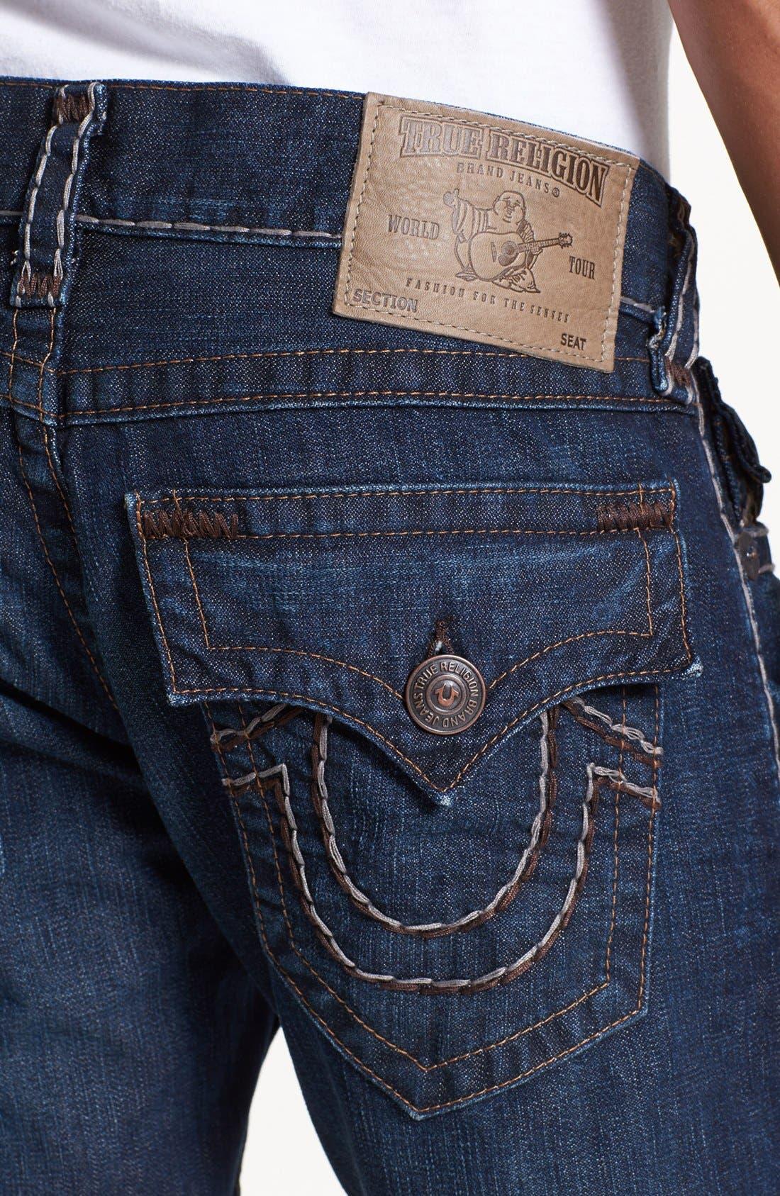 Alternate Image 4  - True Religion Brand Jeans 'Ricky' Straight Leg Jeans (Retribution)