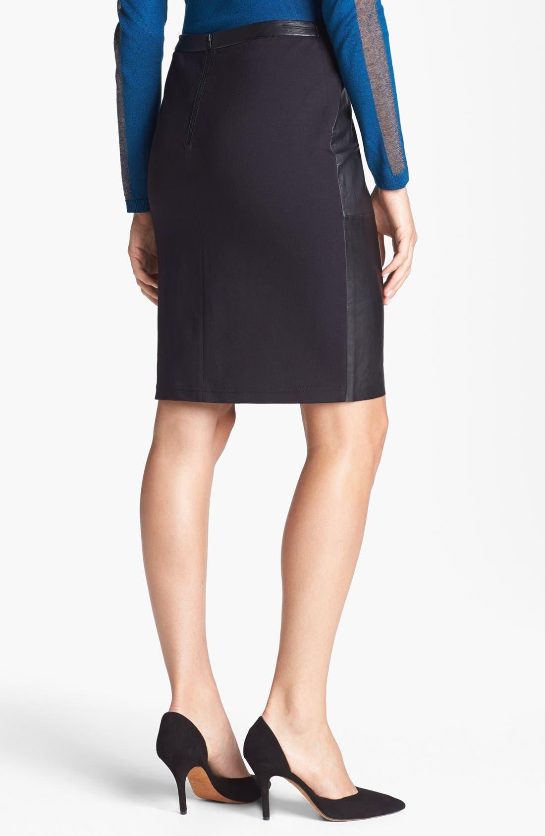 Alternate Image 2  - Trouvé Leather Front Pencil Skirt
