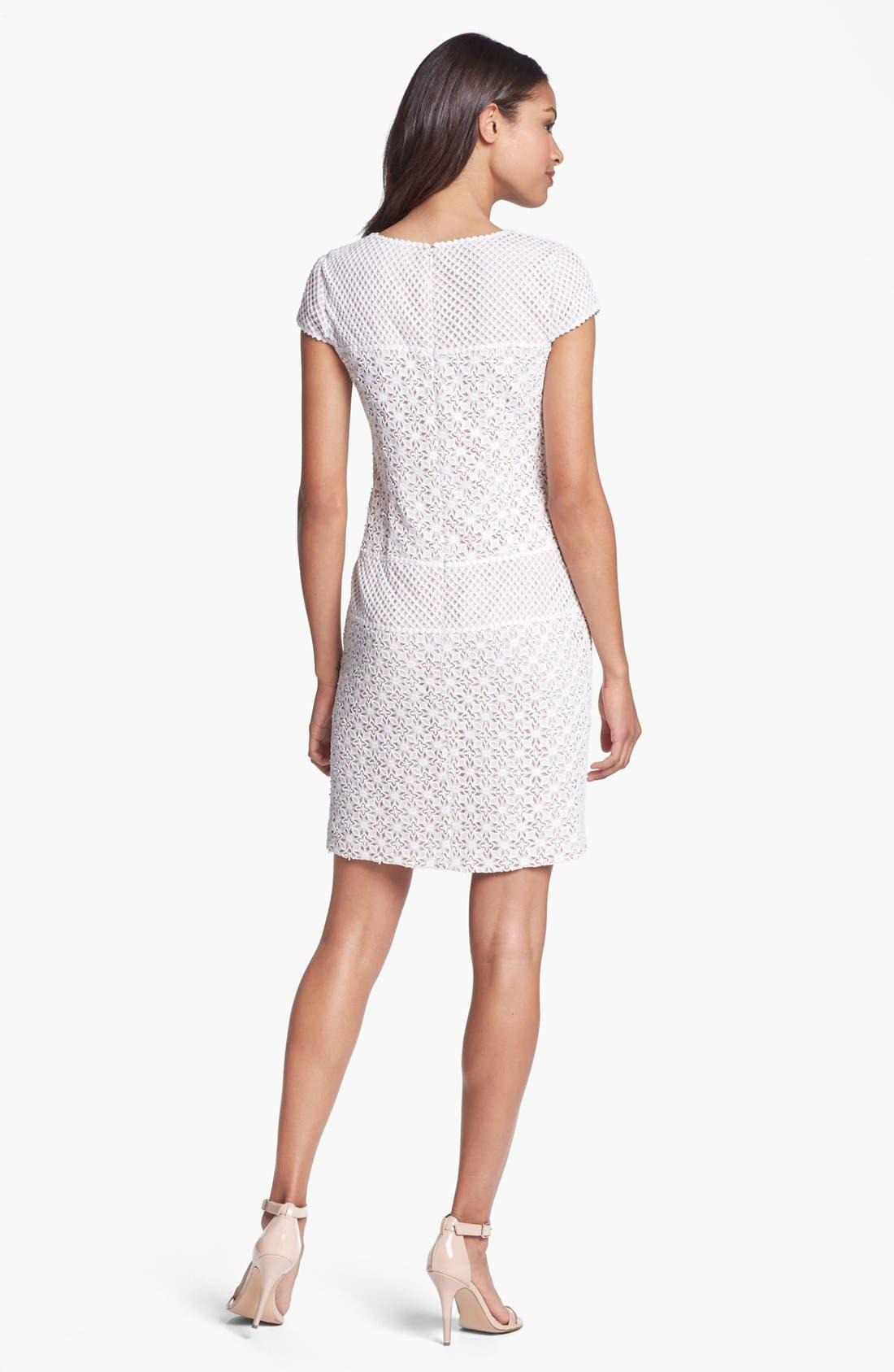 Alternate Image 2  - Ivy & Blu Mixed Lace Dress (Petite)