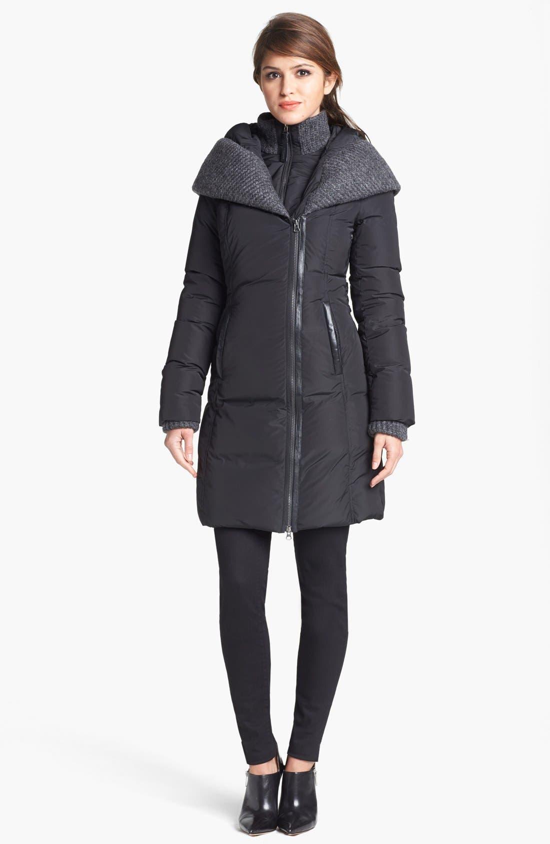 Alternate Image 1 Selected - Mackage 'Brigid' Knit Trim Down Coat