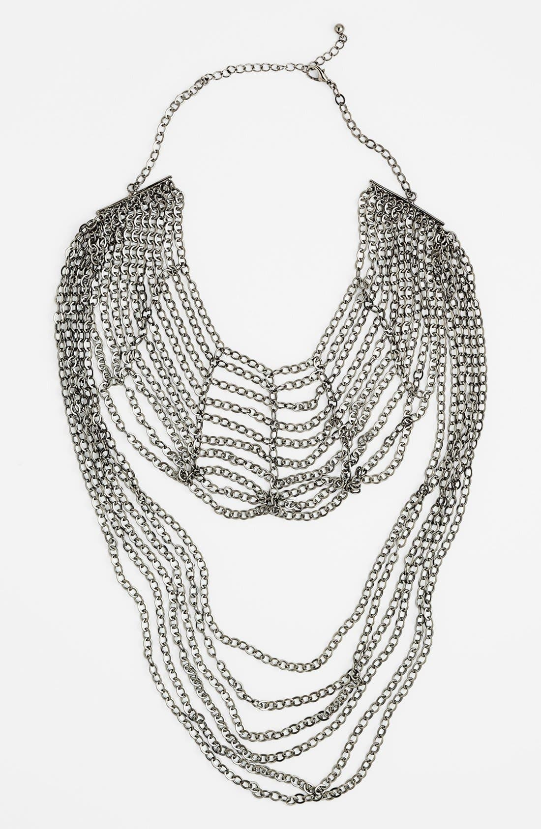 Alternate Image 1 Selected - Natasha Couture Two Tier Chain Necklace