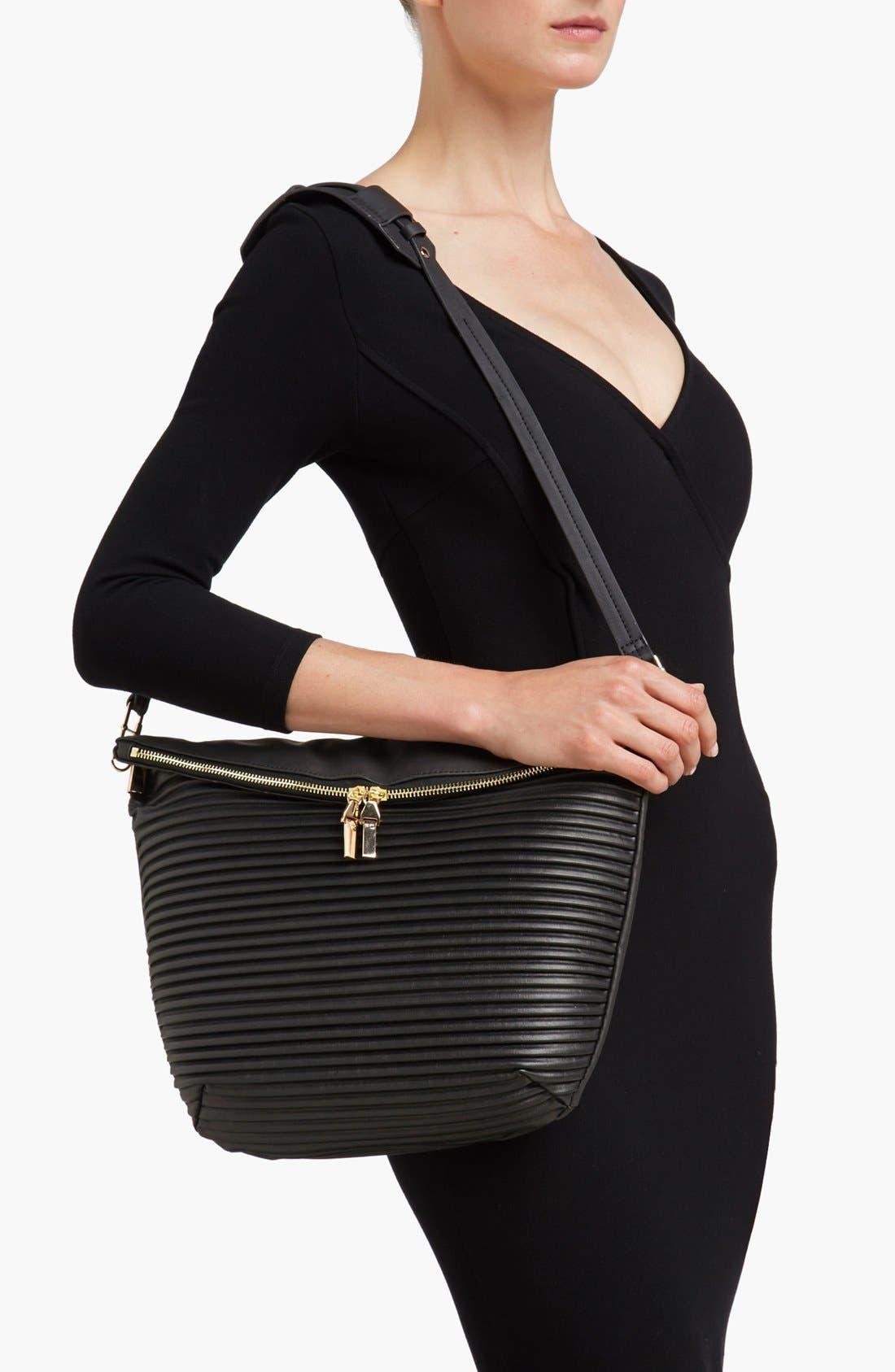 Alternate Image 2  - French Connection Faux Leather Shoulder Bag