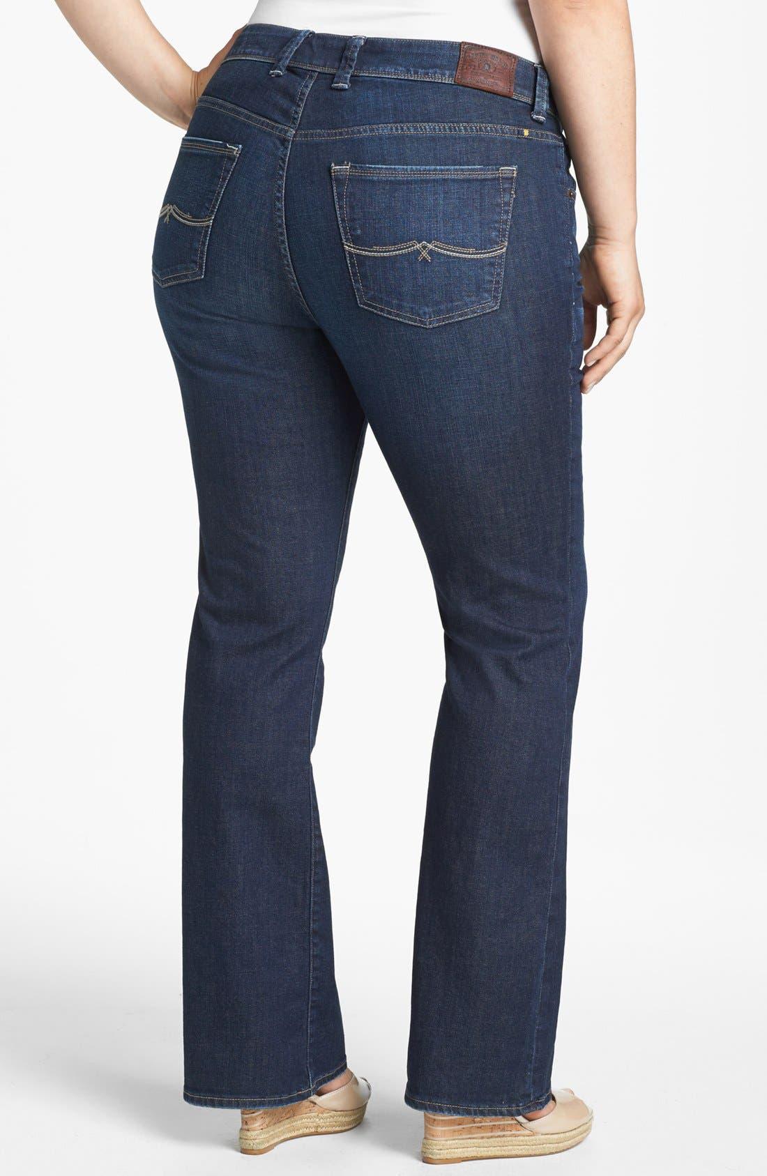 Alternate Image 2  - Lucky Brand 'Georgia' Bootcut Jeans (Plus Size)