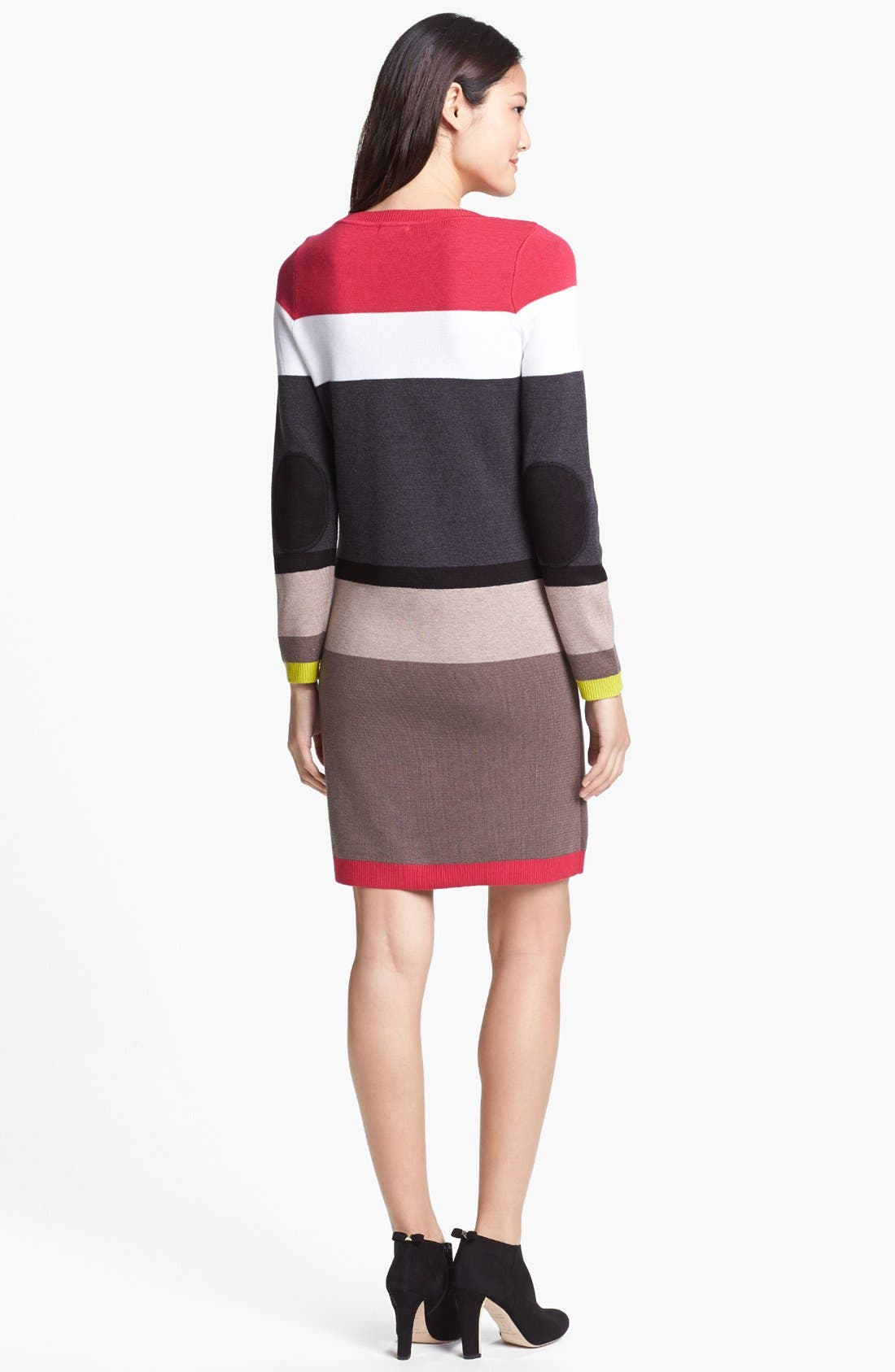 Alternate Image 2  - Eliza J Stripe Sweater Dress
