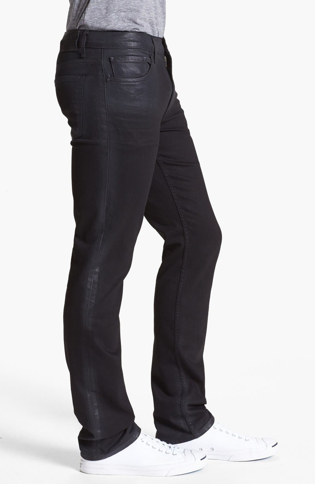 Alternate Image 3  - PAIGE 'Federal' Coated Slim Fit Jeans (Oil Slick)