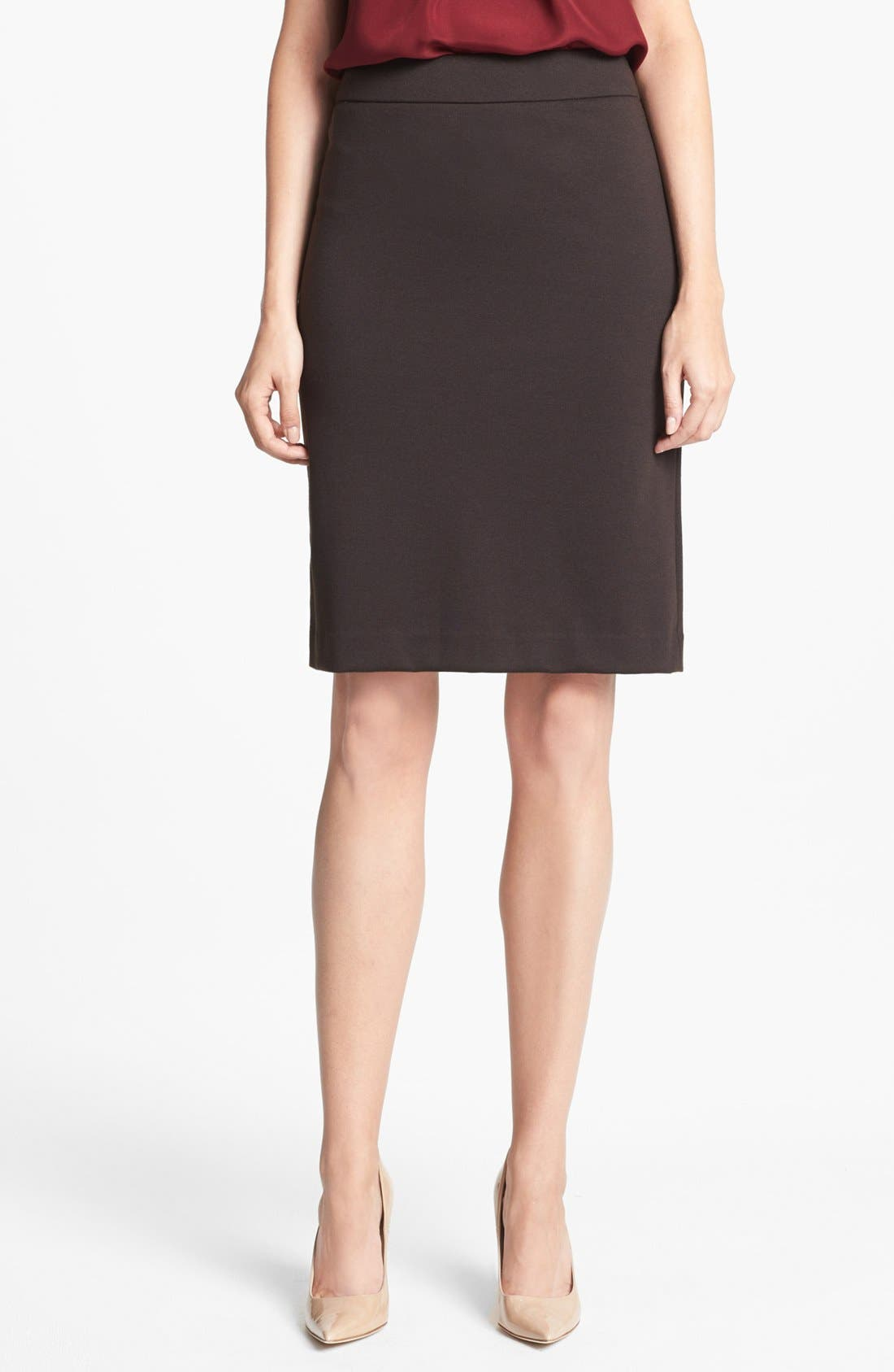 Main Image - Jones New York 'Lucy' Ponte Knit Pencil Skirt