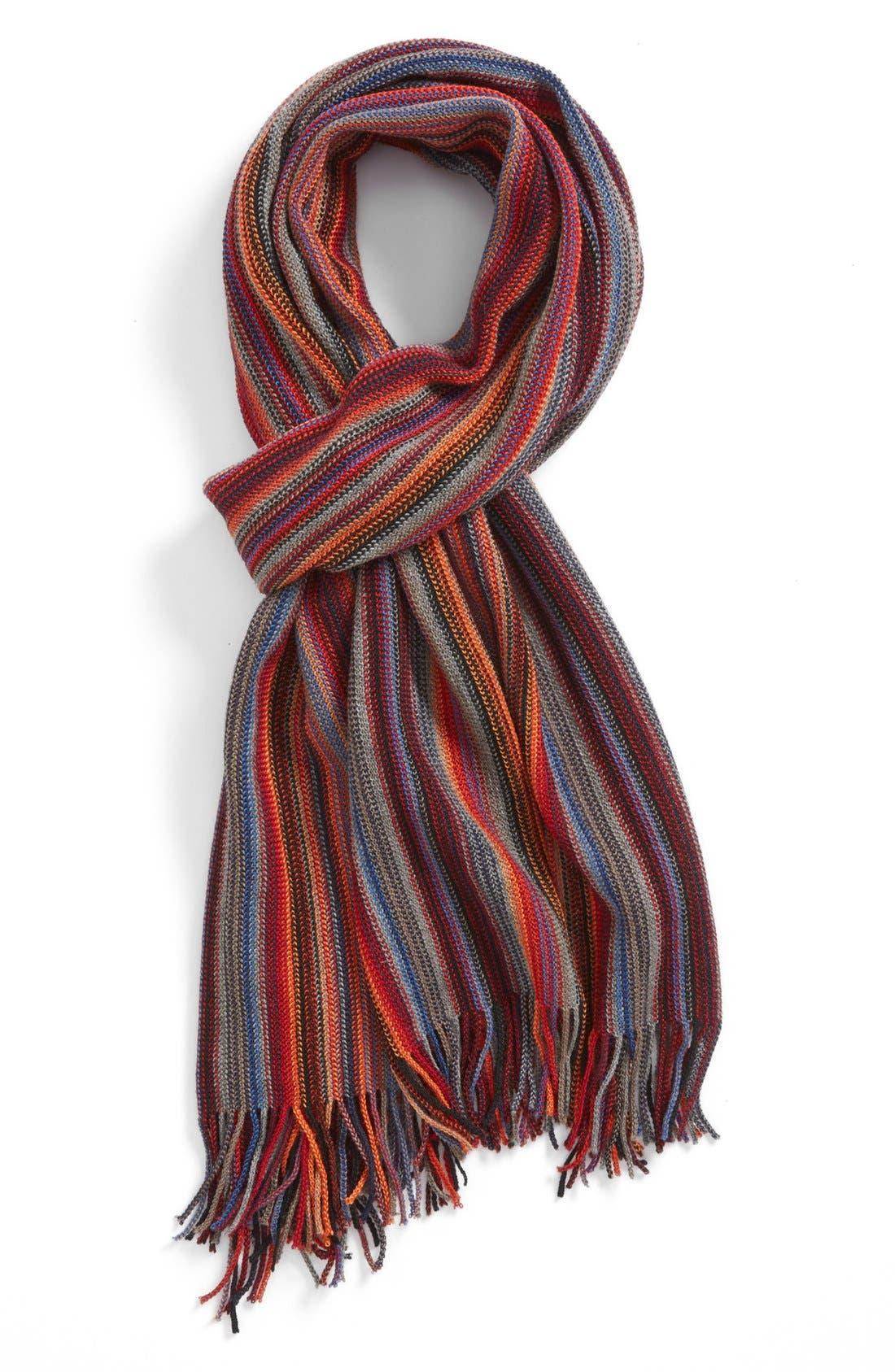 Alternate Image 1 Selected - BOSS HUGO BOSS 'Napale' Stripe Scarf