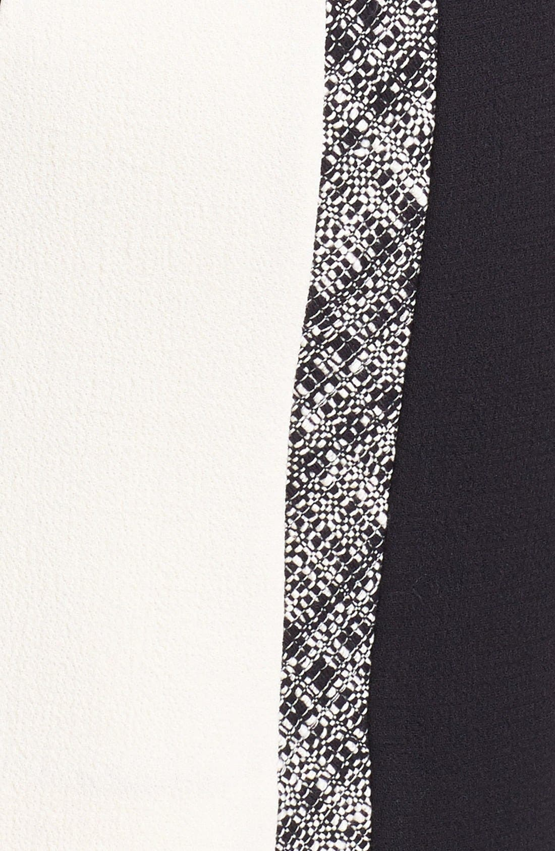 Alternate Image 3  - Milly Tweed Inset Wool Sheath Dress