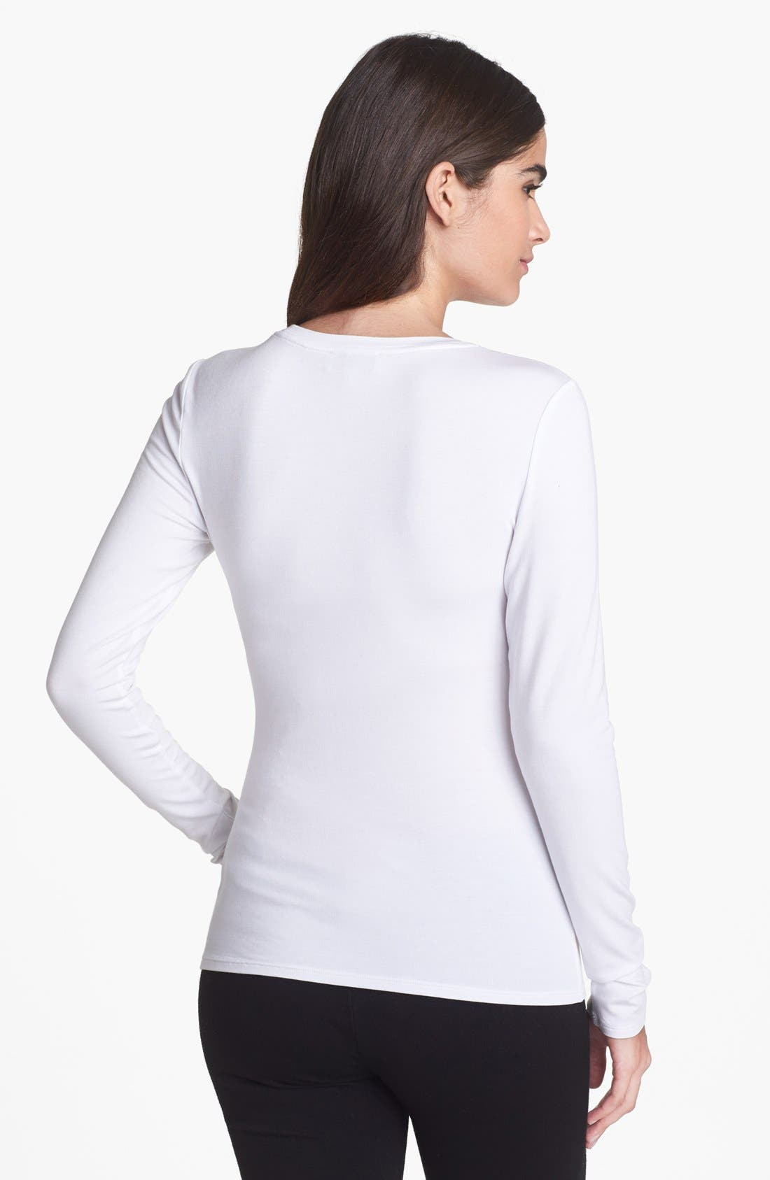 Alternate Image 2  - Nordstrom Collection Stretch Modal Tee