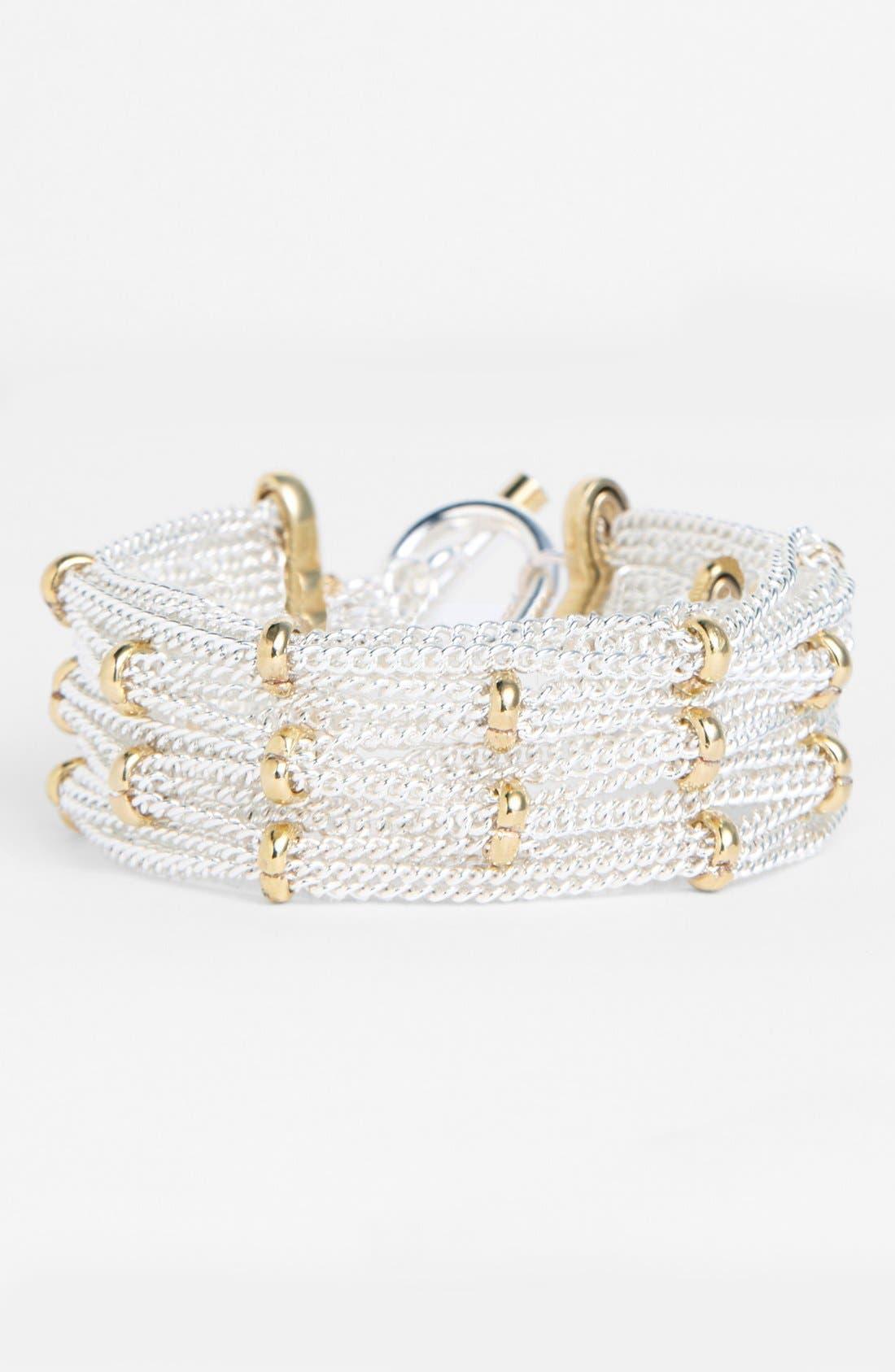 Main Image - Lauren Ralph Lauren Two Tone Chain Bracelet