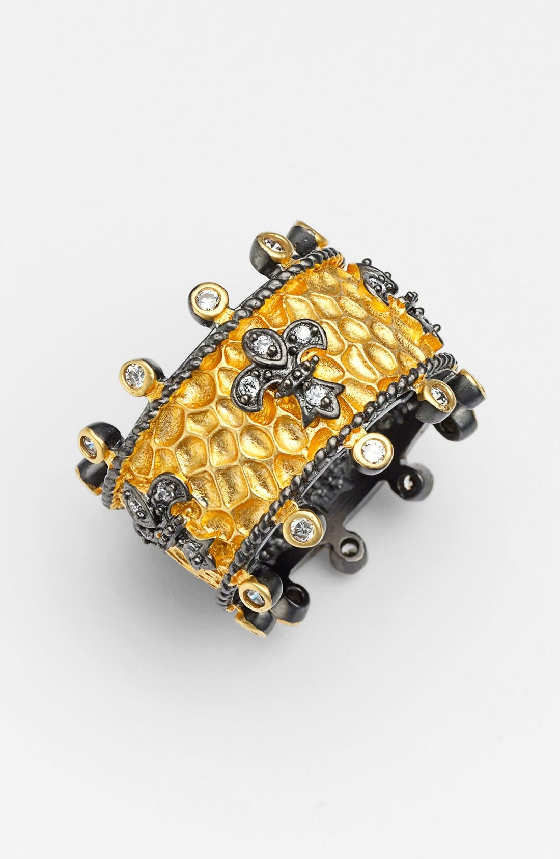 Main Image - FREIDA ROTHMAN 'Tribeca' Hammered Cigar Band Ring