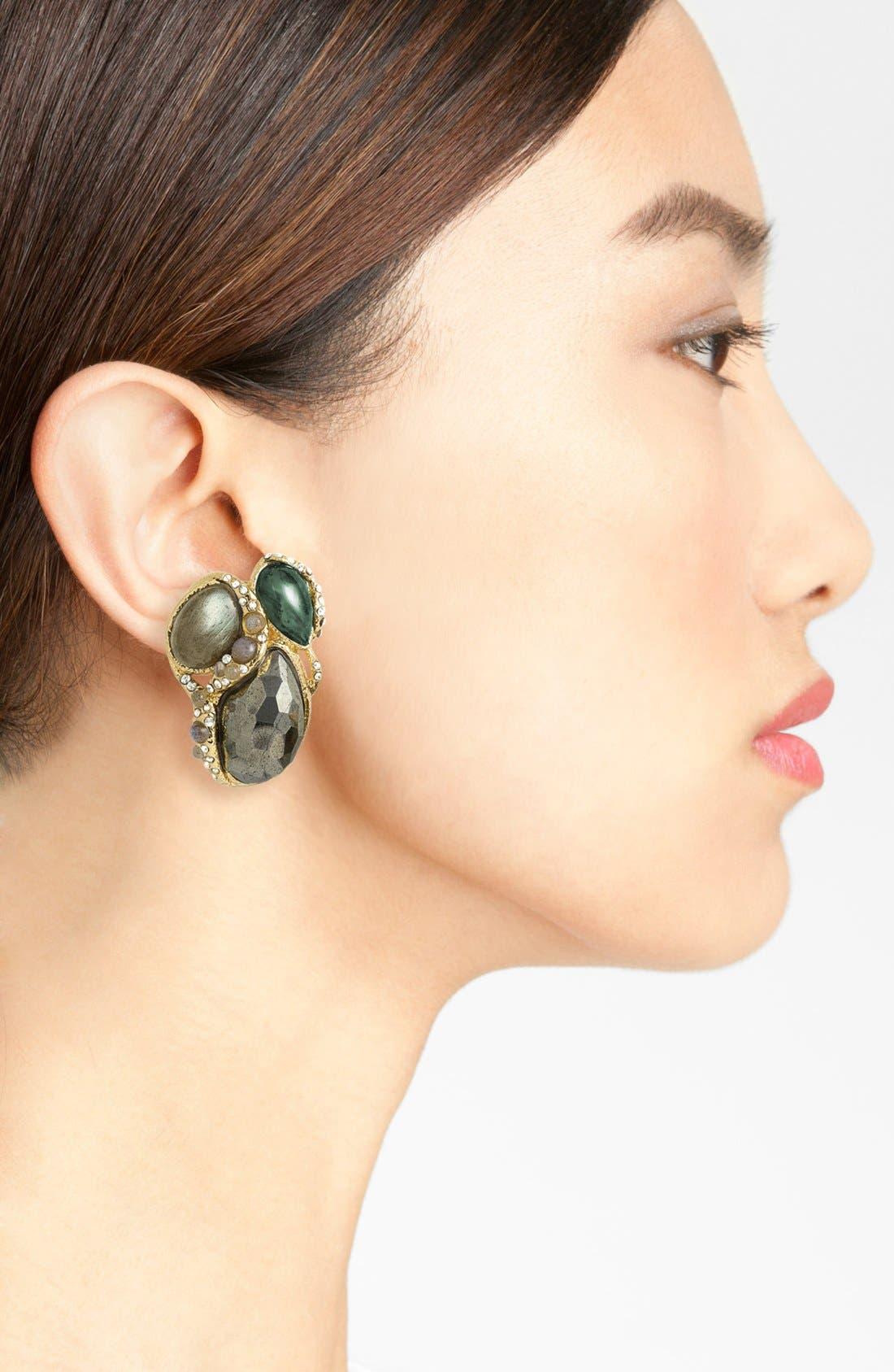 Alternate Image 2  - Alexis Bittar 'Elements - Jardin de Papillon' Clip Earrings
