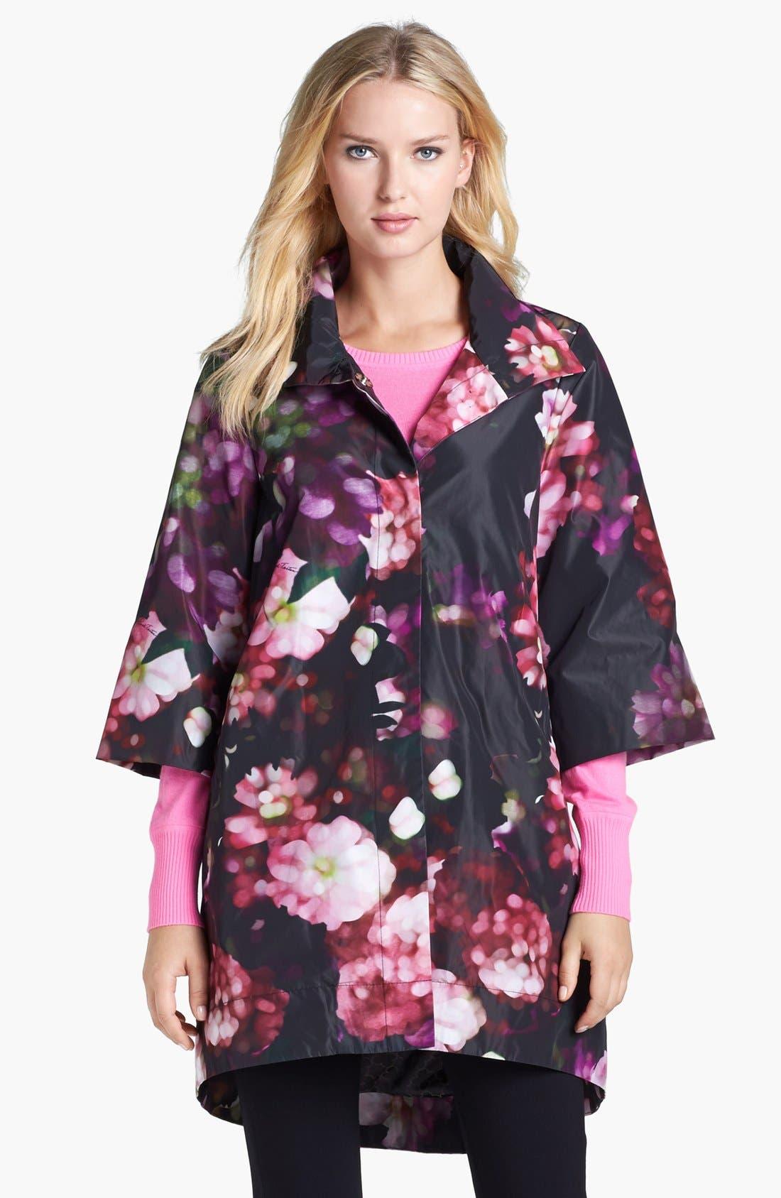 Alternate Image 2  - Pink Tartan Swing Coat & Cashmere Sweater, Elie Tahari Knit Pants