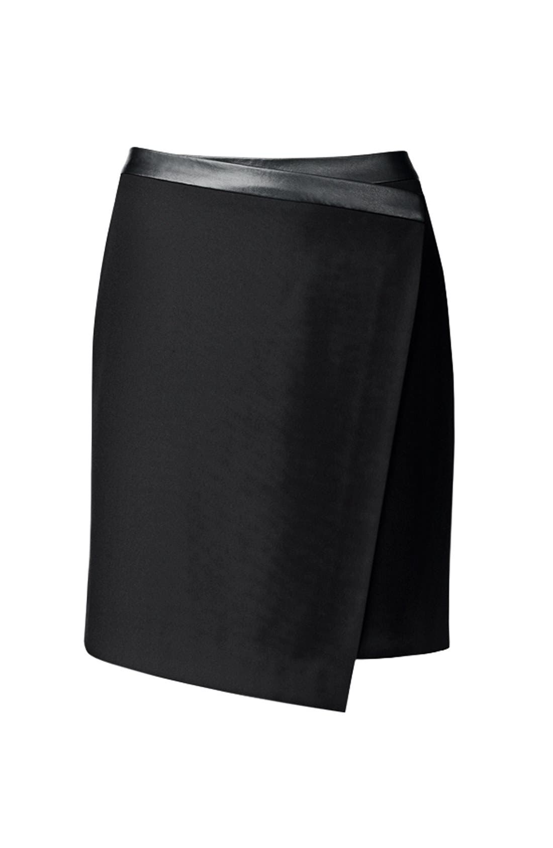 Alternate Image 5  - Trouvé Asymmetrical Faux Wrap Skirt