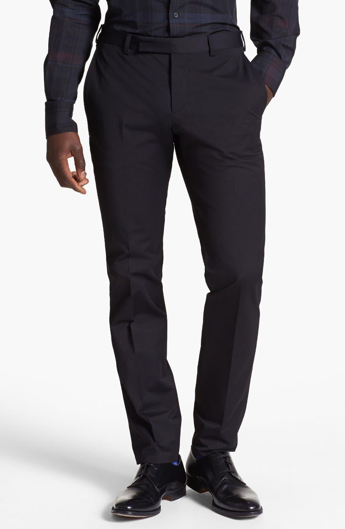 Main Image - Z Zegna Slim Fit Gabardine Trousers