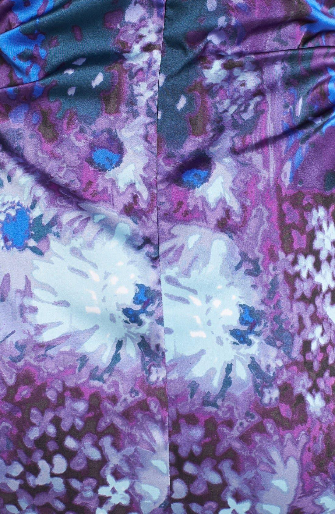 Alternate Image 3  - Ivy & Blu Print Satin Sheath Dress (Petite)