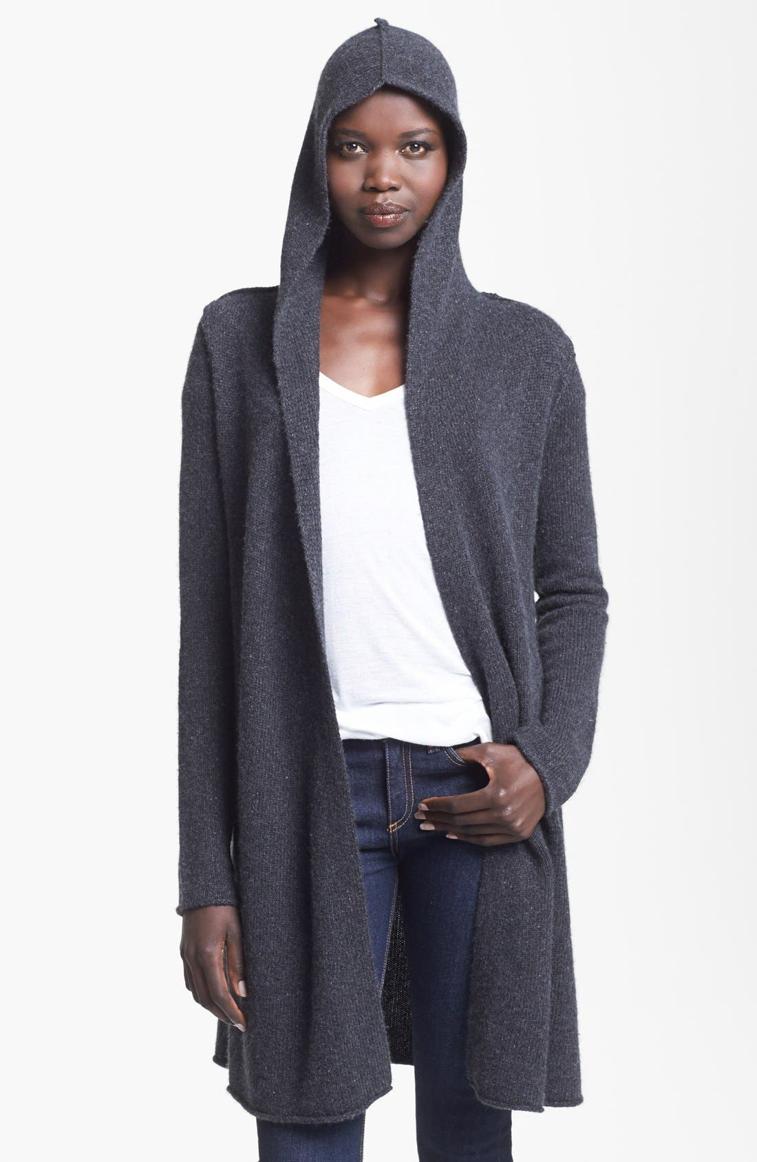 Alternate Image 2  - autumn cashmere Hooded Cashmere Duster