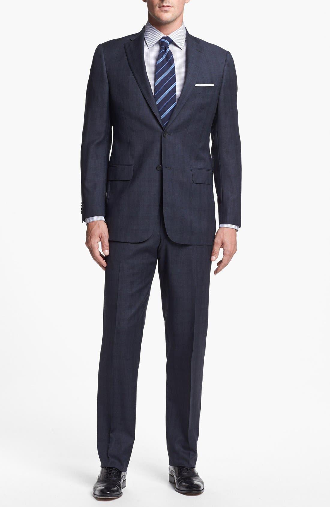 Main Image - Hart Schaffner Marx Classic Fit Plaid Suit