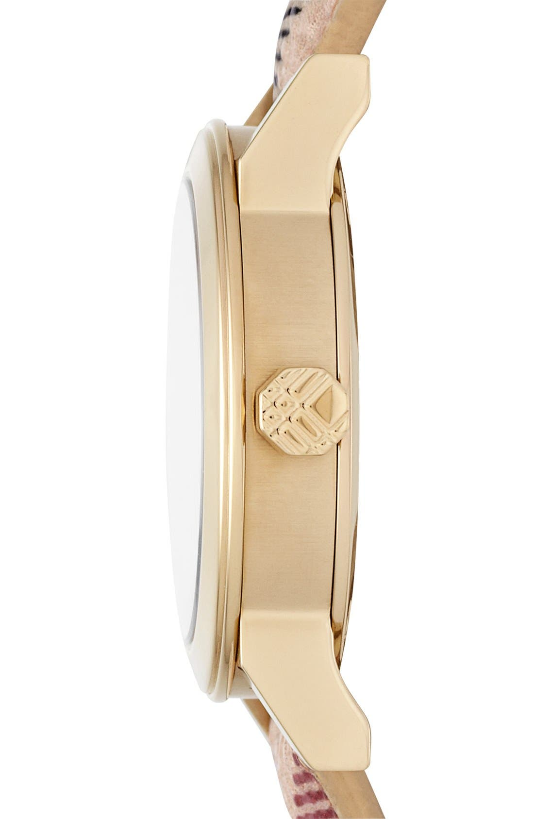 Alternate Image 3  - Burberry Small Check Strap Watch, 26mm