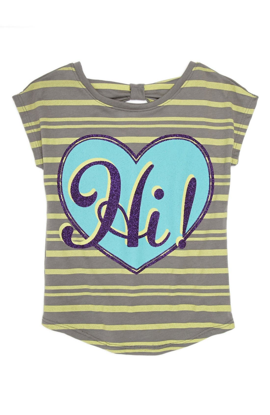 Alternate Image 1 Selected - Mighty Fine 'Hi Bye' Tee (Little Girls)