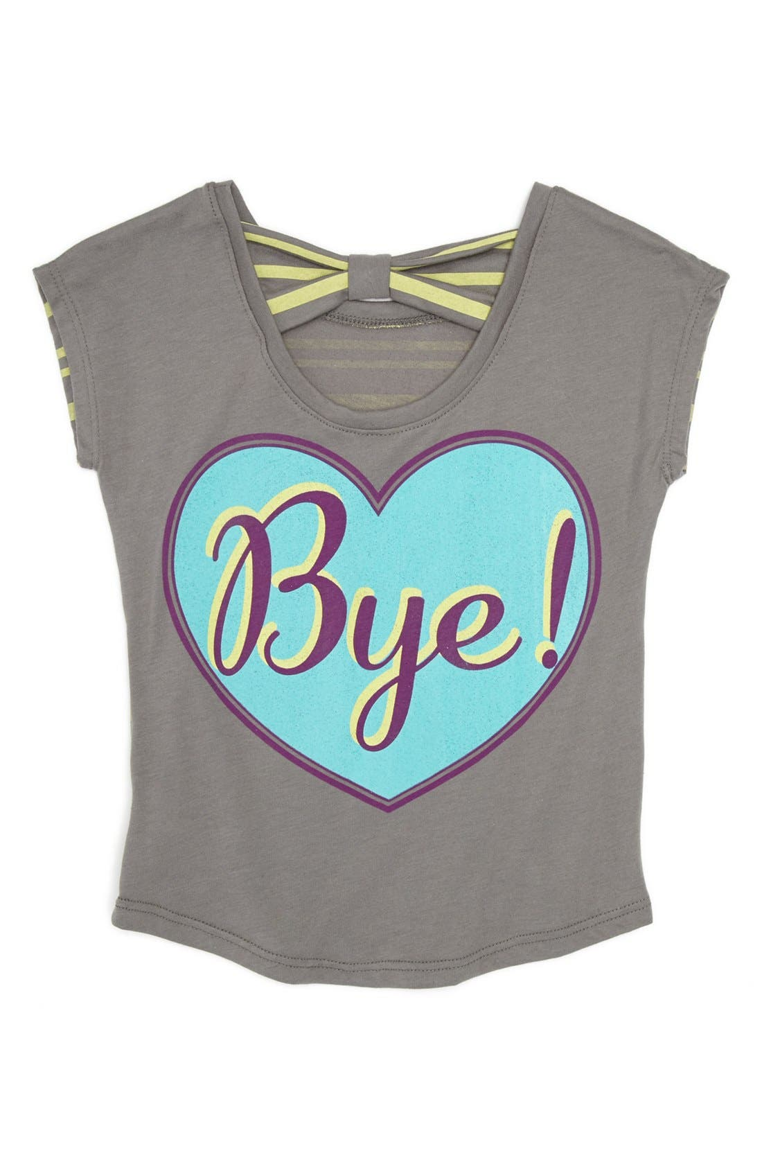 Alternate Image 2  - Mighty Fine 'Hi Bye' Tee (Little Girls)