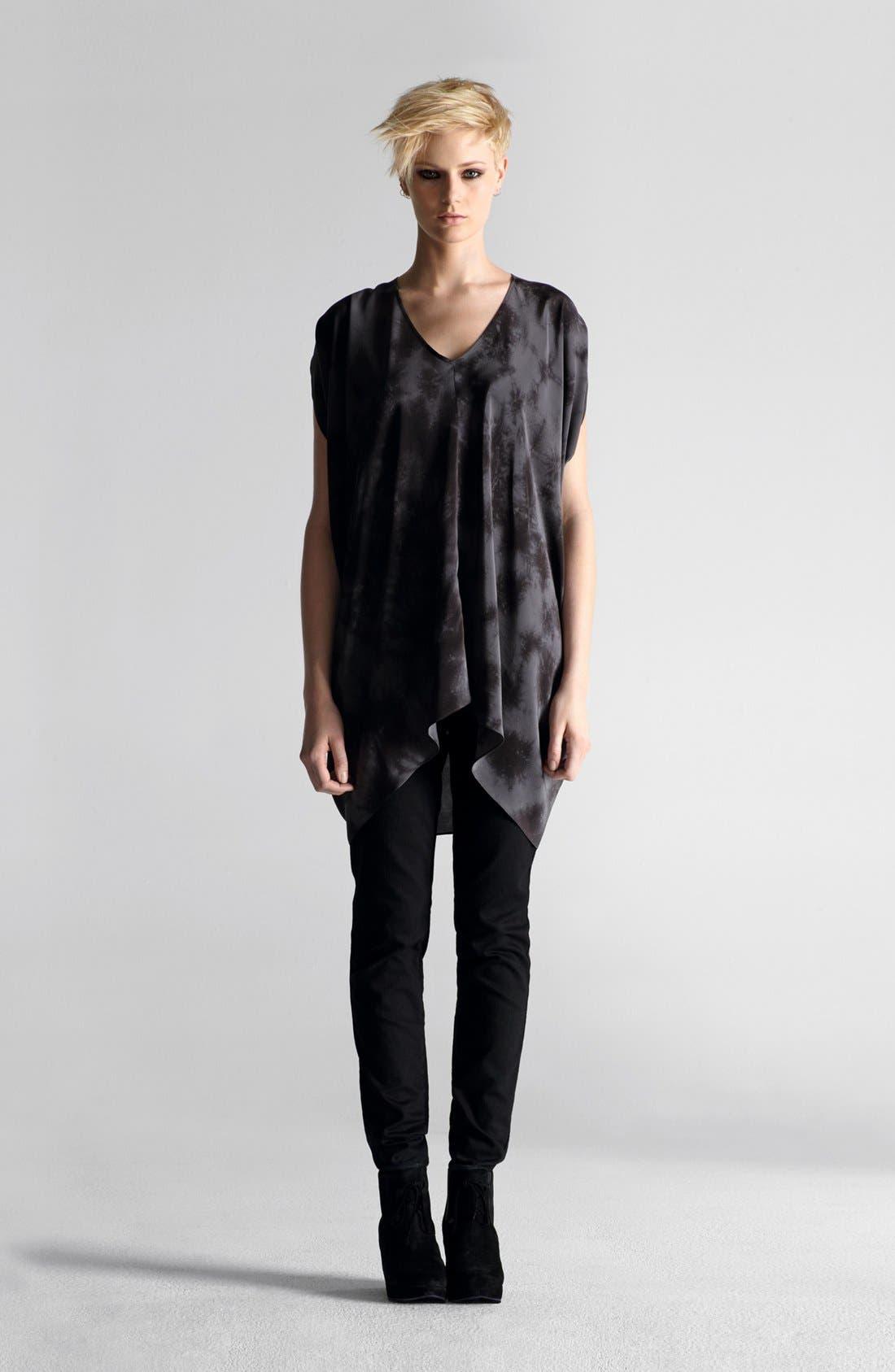 Alternate Image 5  - Eileen Fisher 'Crystalline' V-Neck Silk Shibori Tunic