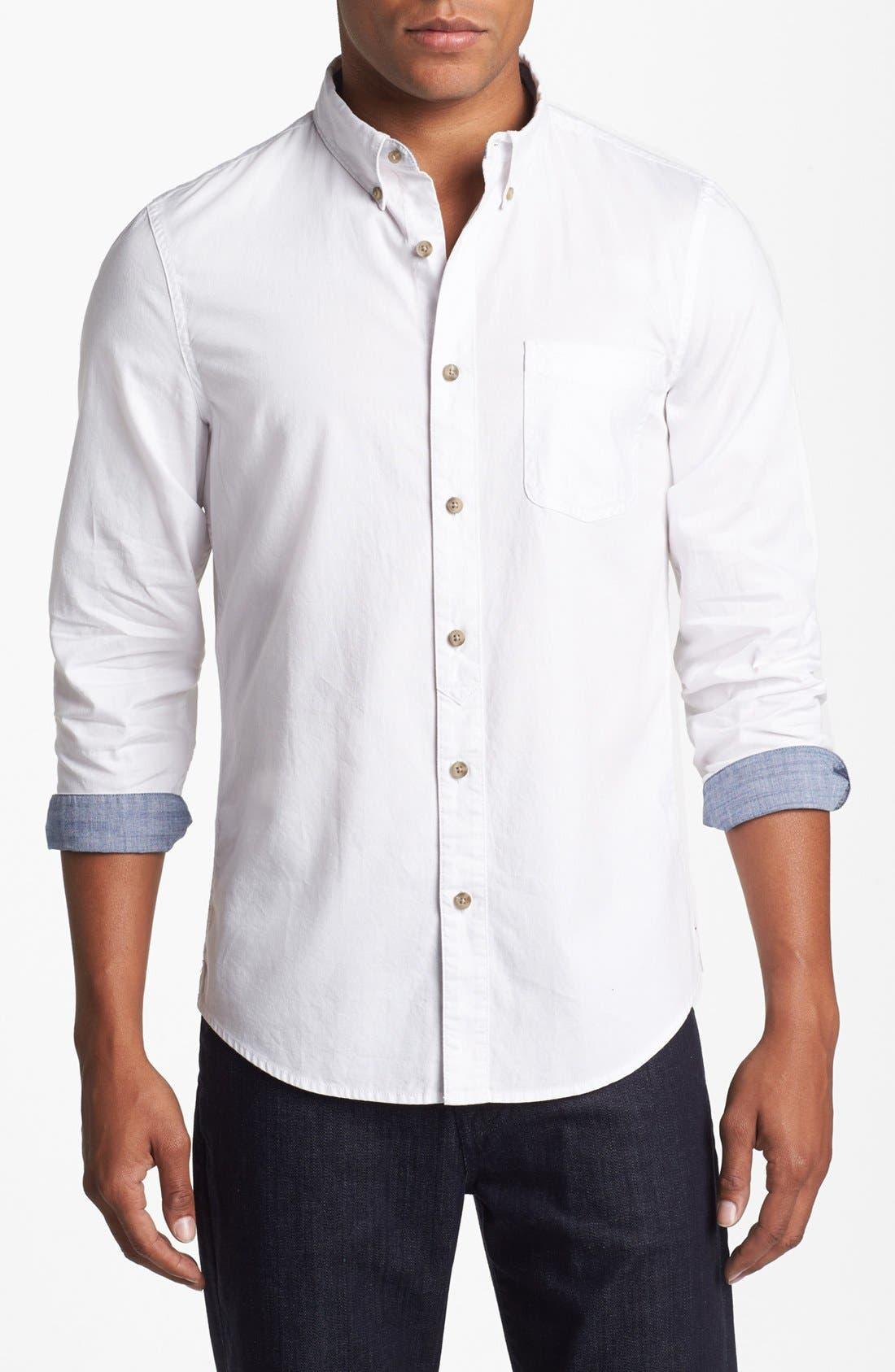 Main Image - 1901 Pinpoint Oxford Shirt