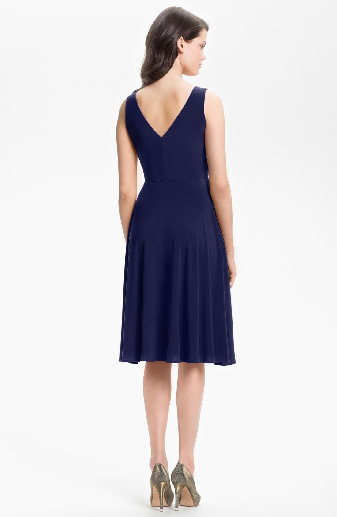 Alternate Image 2  - Isaac Mizrahi New York Surplice Jersey Dress (Regular & Petite)