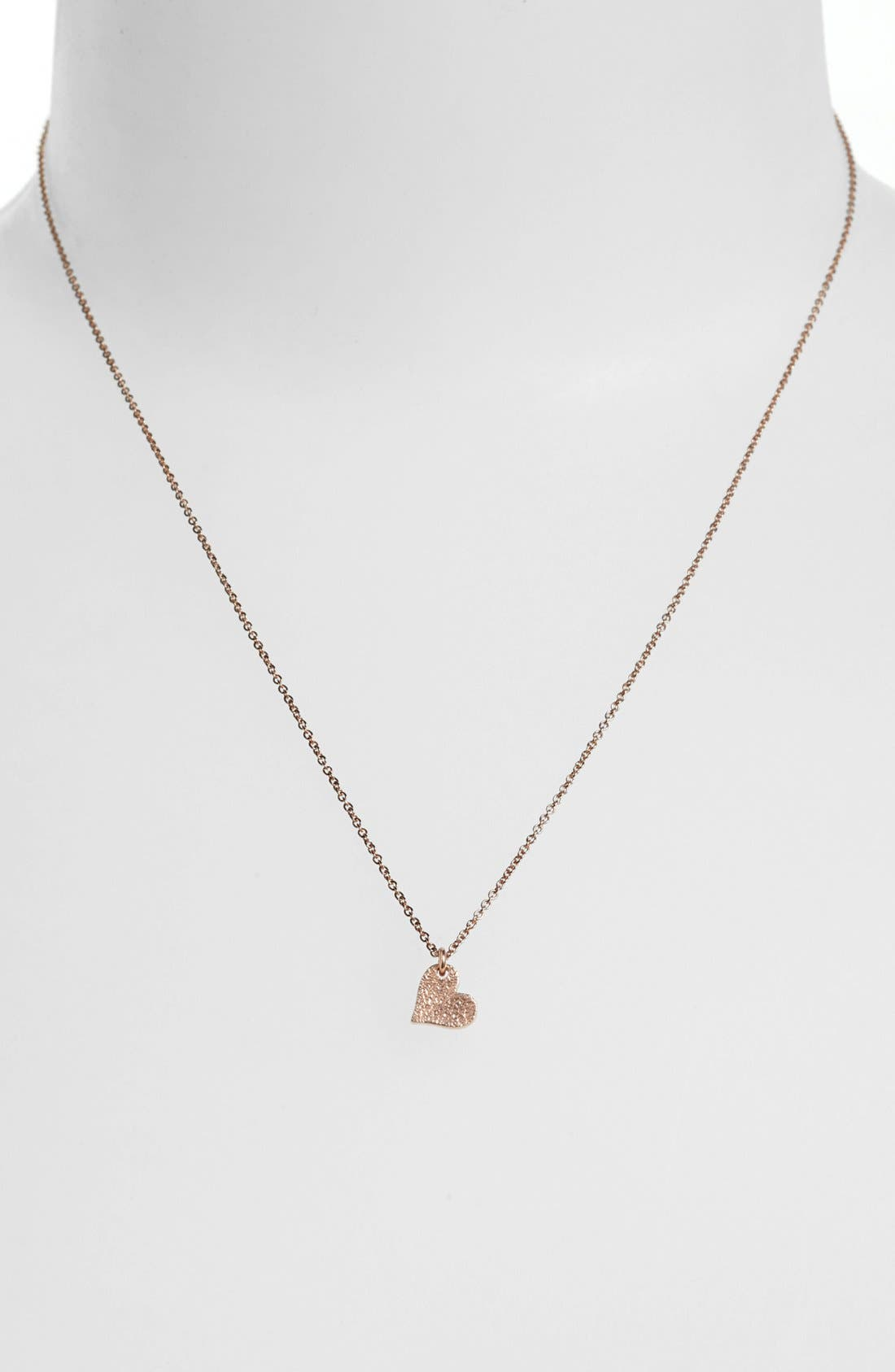 Alternate Image 2  - Dogeared 'Love - Sparkle Heart' Boxed Pendant Necklace