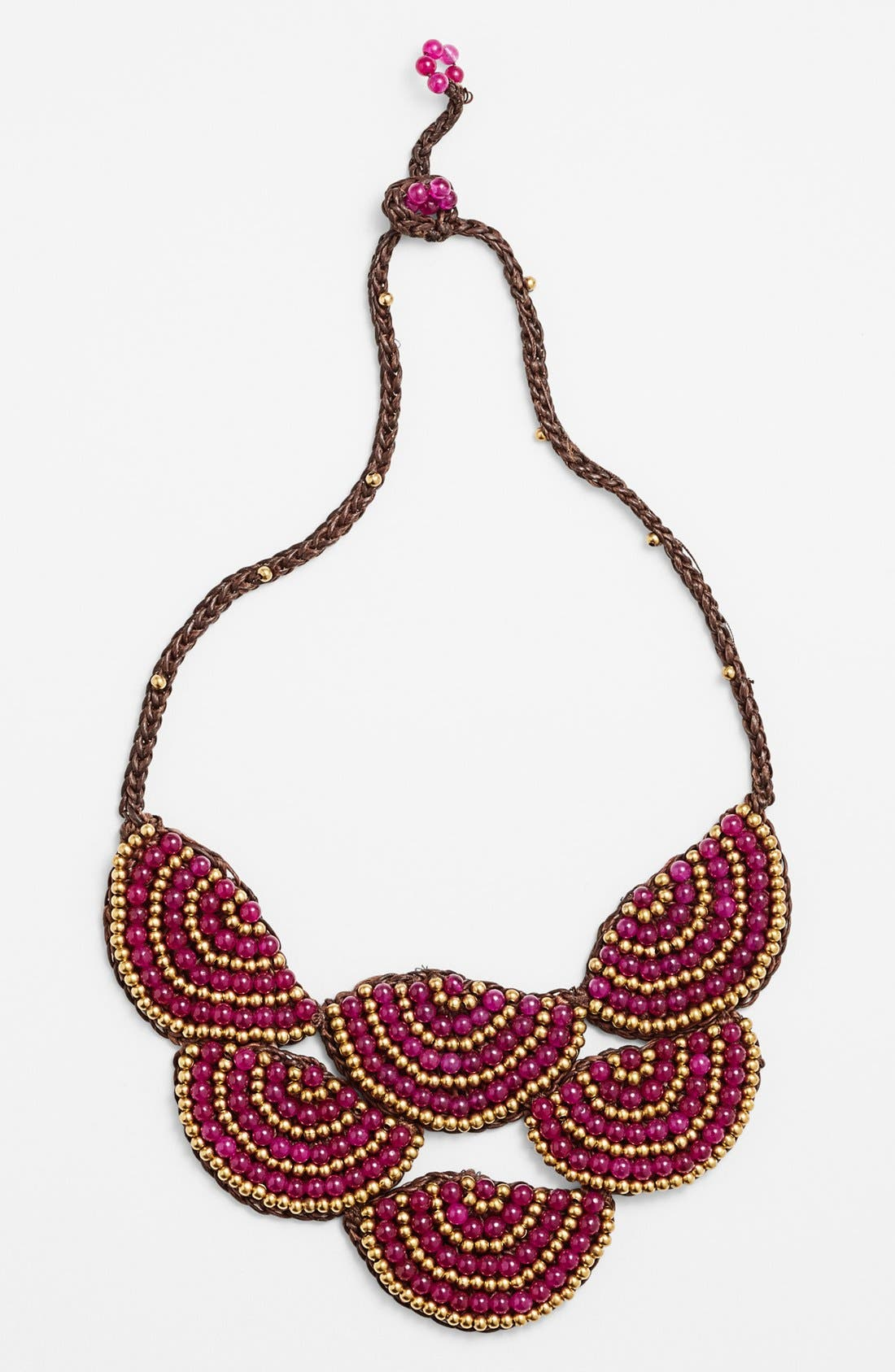 Alternate Image 1 Selected - Panacea Beaded Rope Bib Necklace