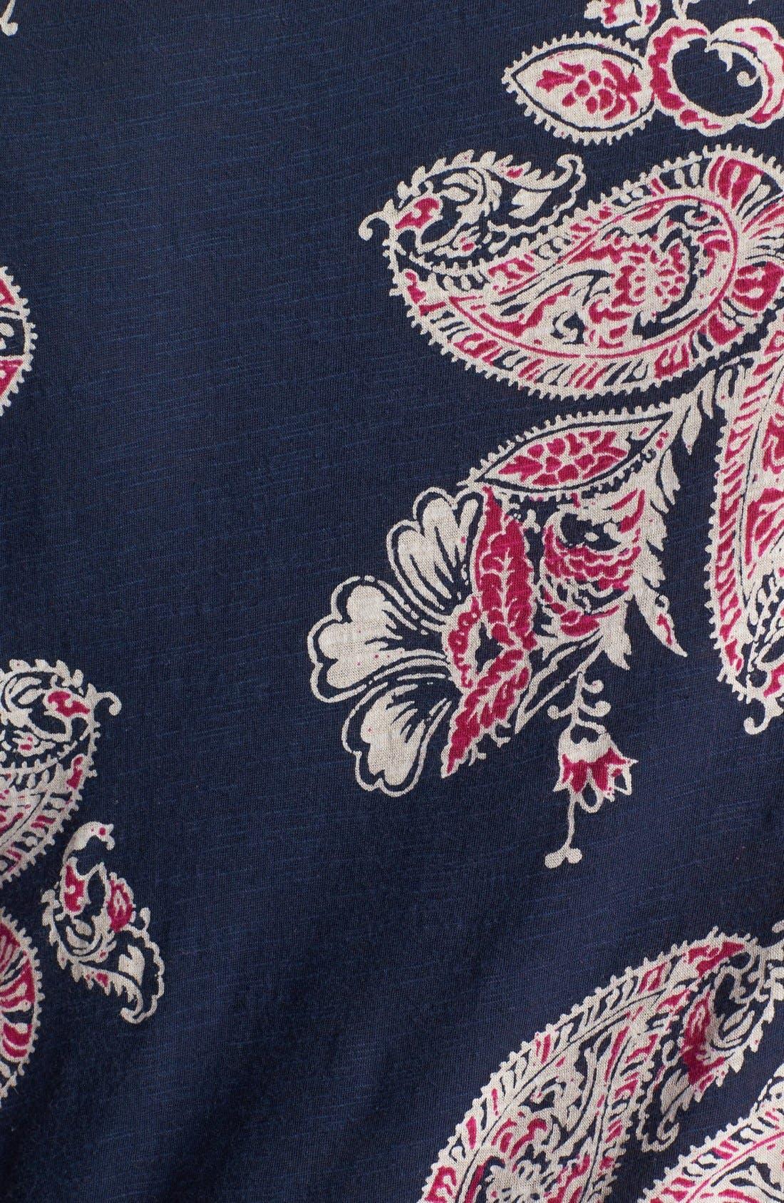 Alternate Image 3  - Lucky Brand 'Taryn' Paisley Print Top (Plus Size)