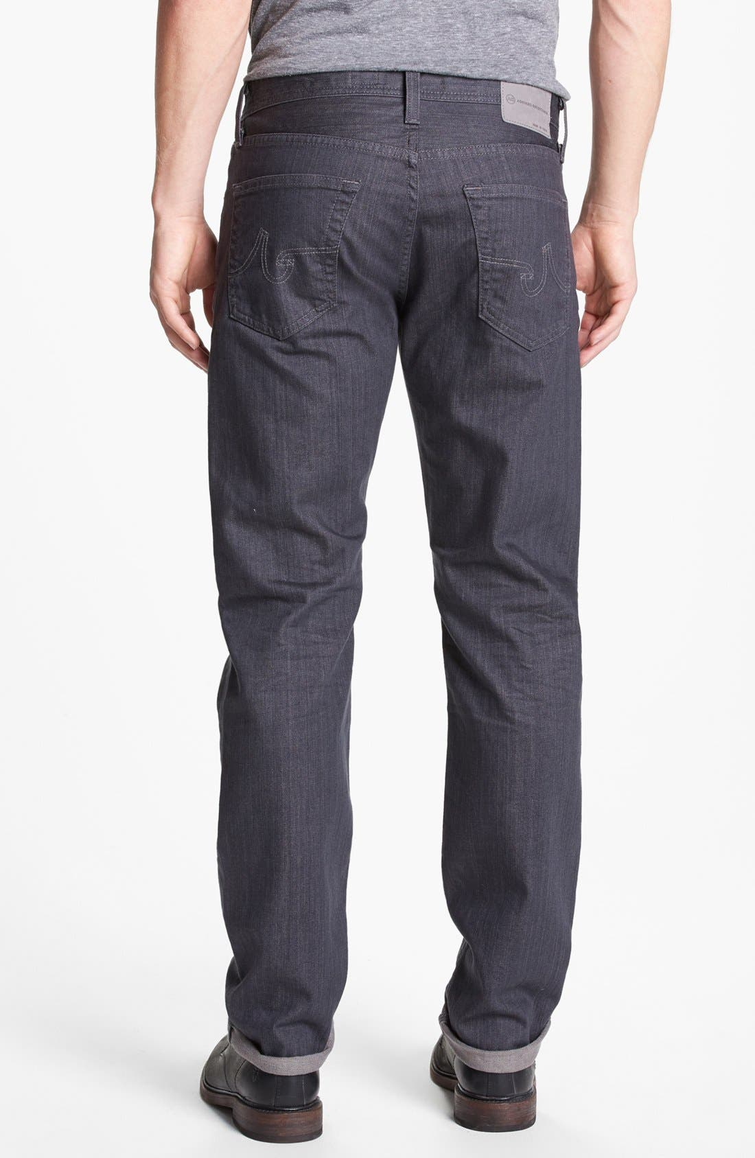 Alternate Image 2  - AG 'Graduate' Tailored Fit Straight Leg Jeans (1 Year Grey)