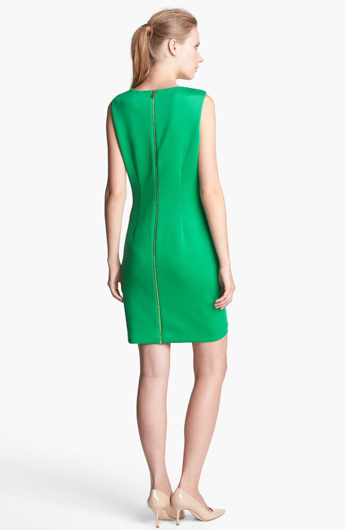 Alternate Image 2  - Vince Camuto Scuba Knit Sheath Dress