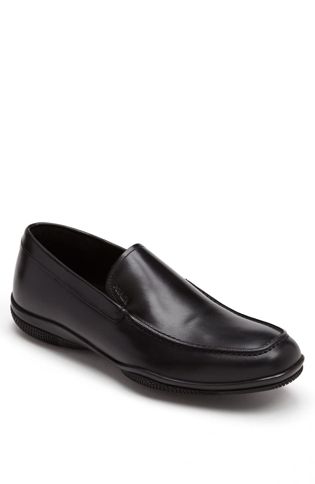 Alternate Image 1 Selected - Prada Leather Slip-On (Men)
