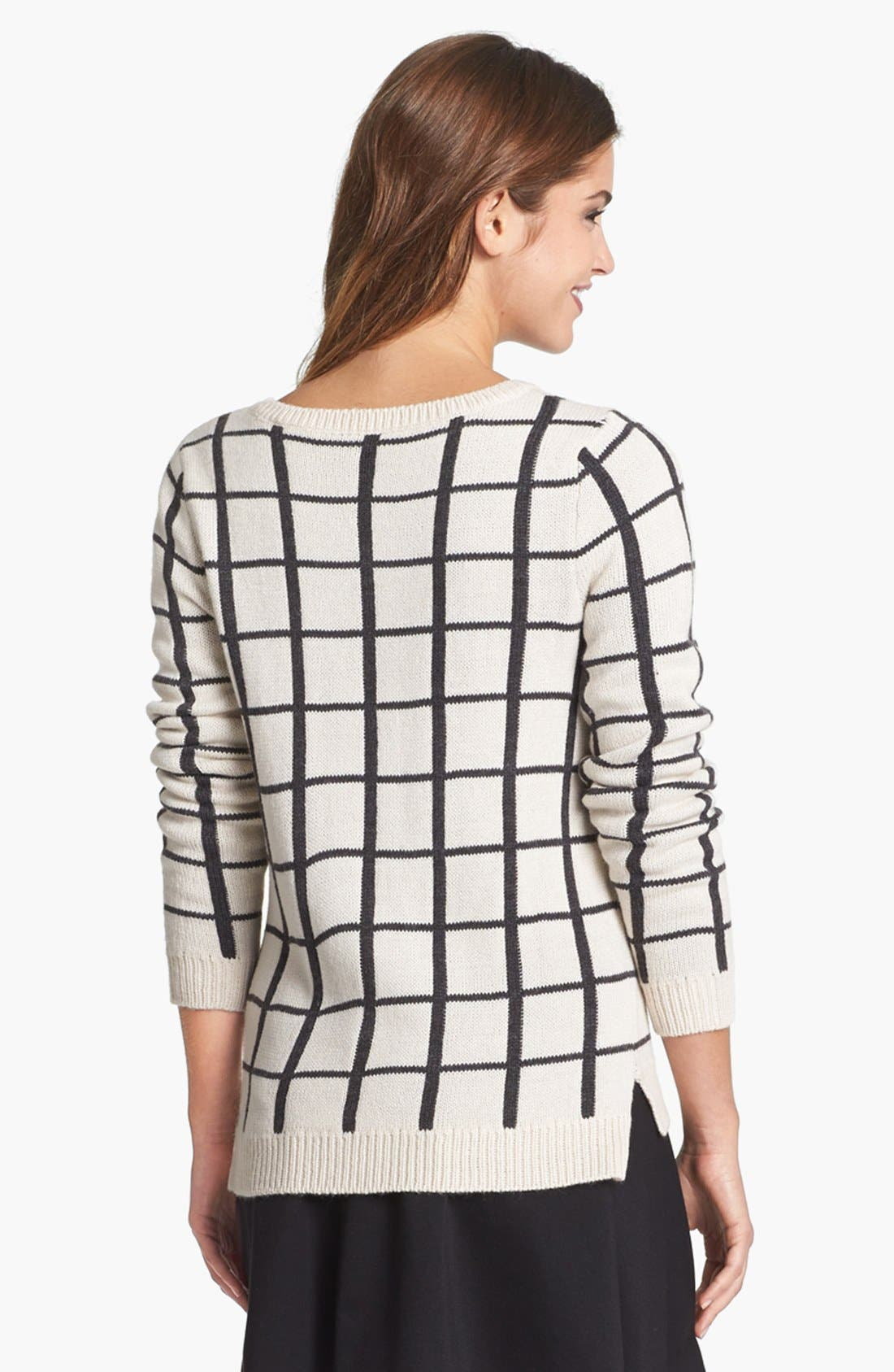 Alternate Image 4  - Olive & Oak Grid Pattern Sweater