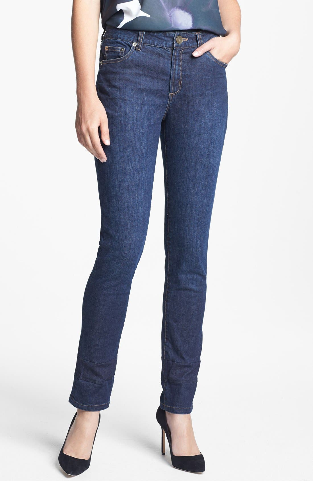 Alternate Image 1 Selected - Adrianna Papell Stretch Denim Jeans