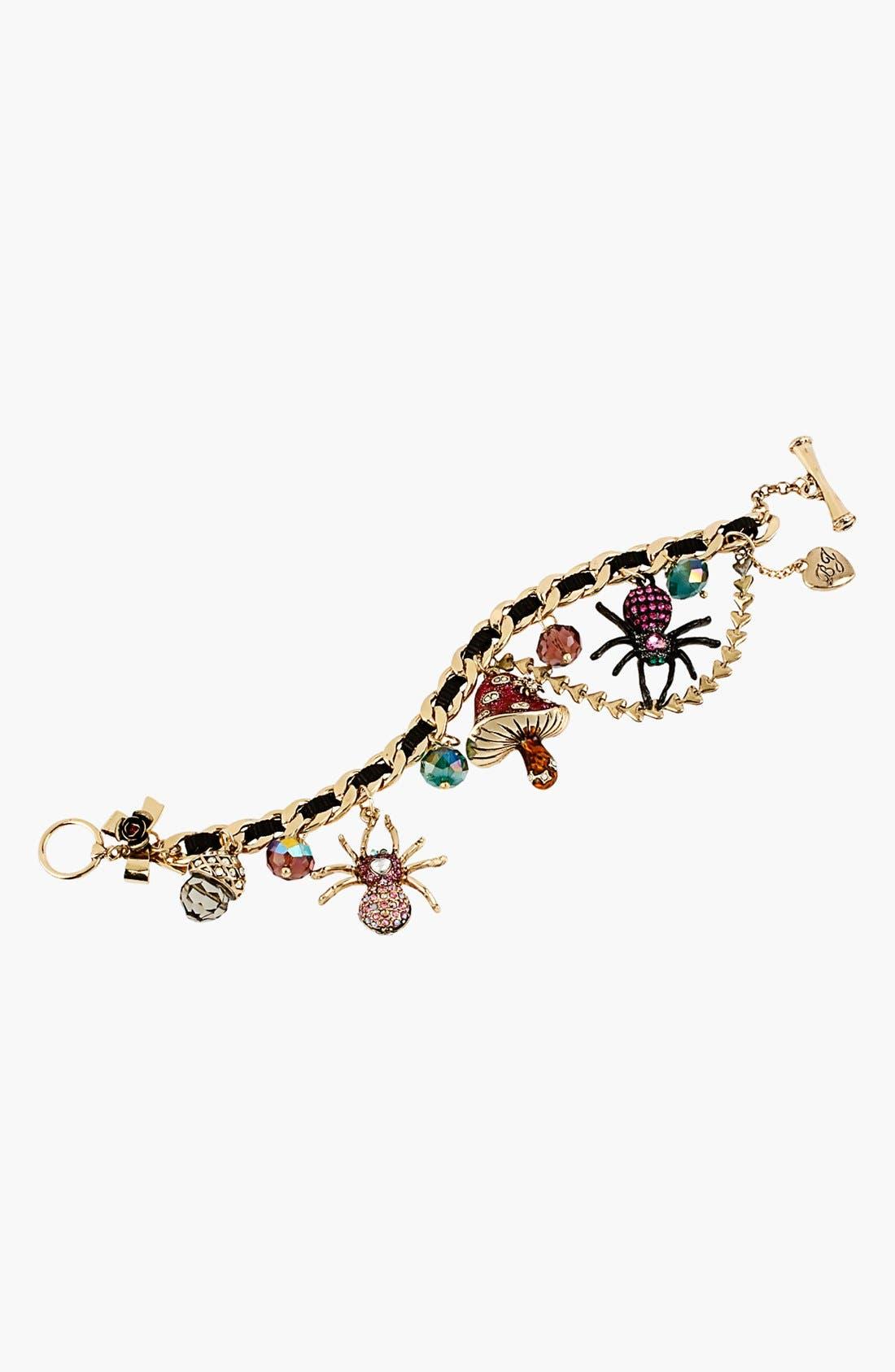 Alternate Image 2  - Betsey Johnson 'Enchanted Forest' Charm Toggle Bracelet
