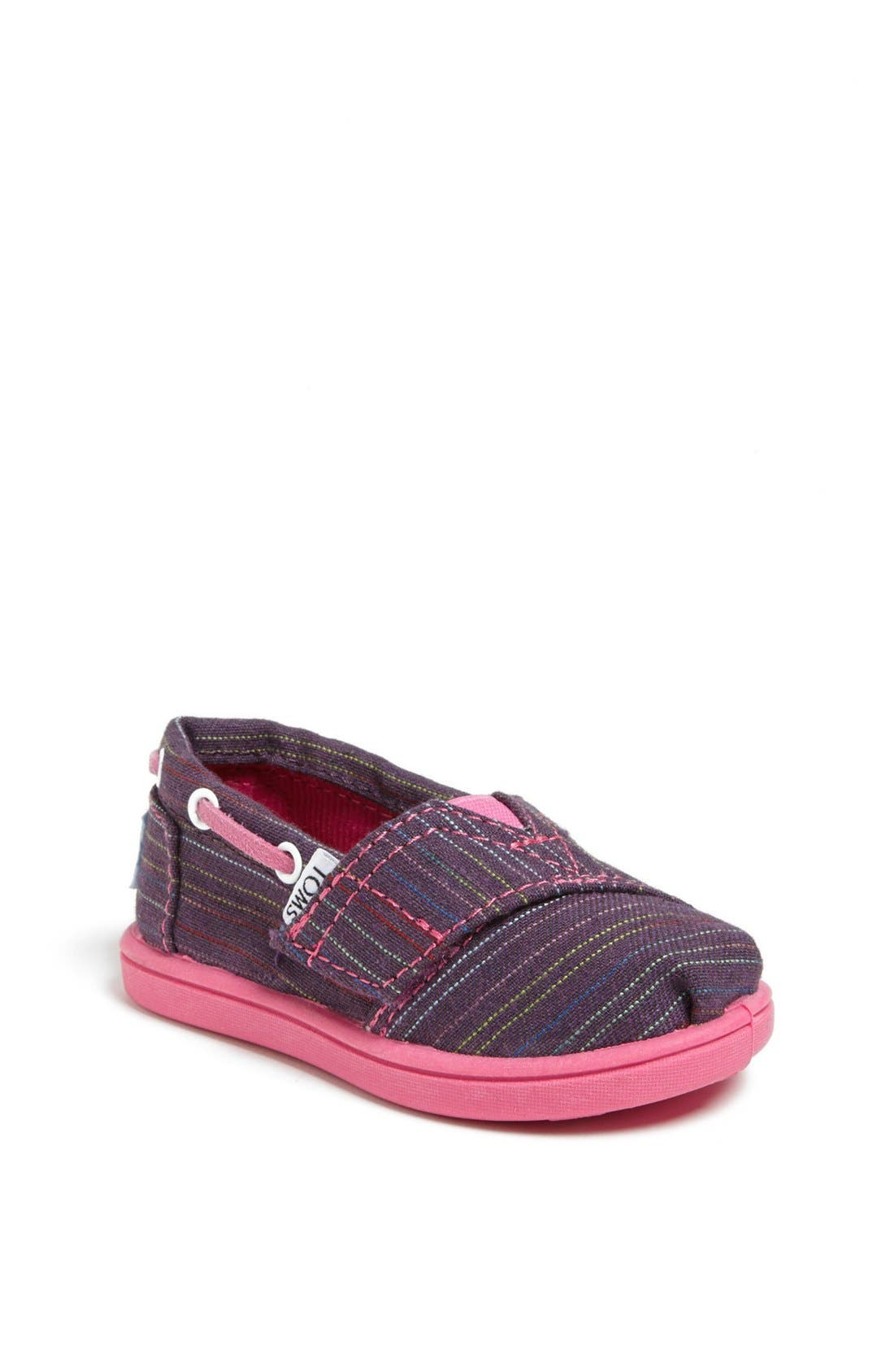 Alternate Image 1 Selected - TOMS 'Classic Tiny - Stripe Bimini' Slip-On (Baby, Walker & Toddler)