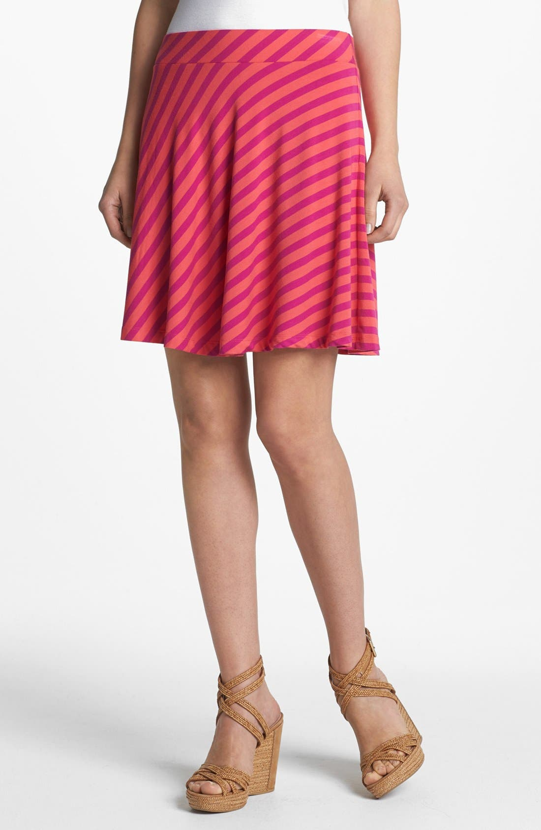 Main Image - Caslon® Knit Circle Skirt (Petite)