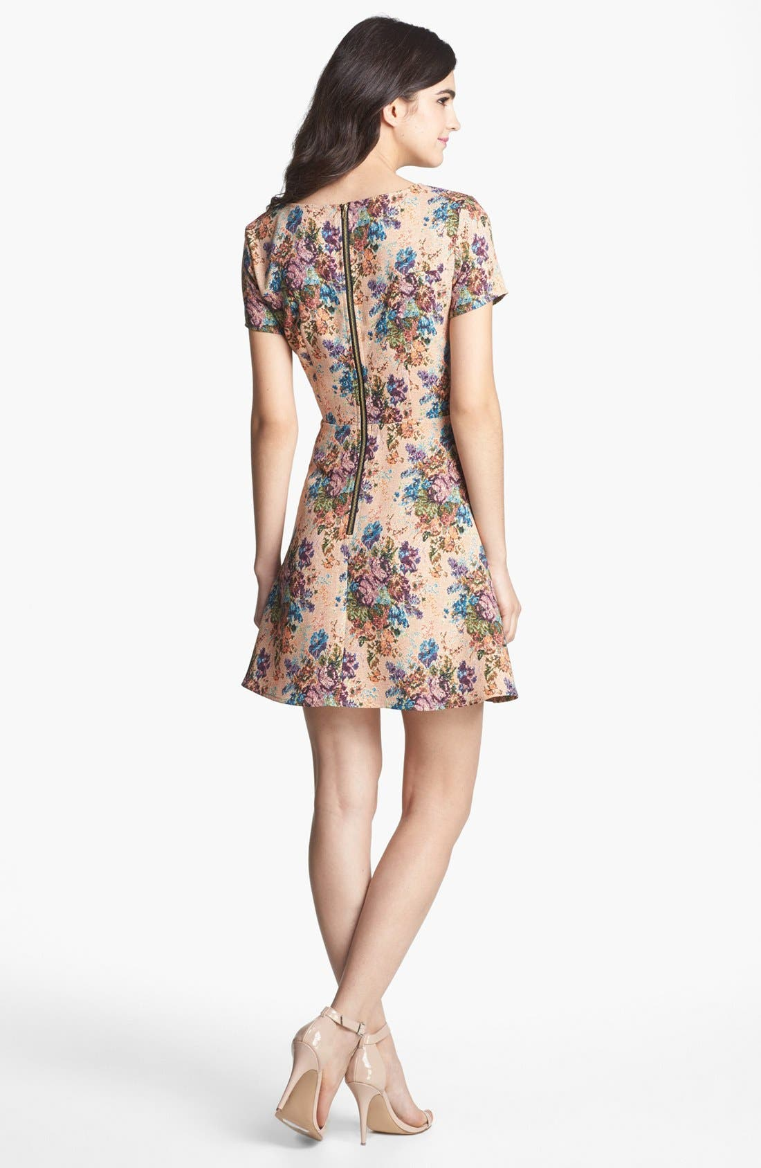Alternate Image 2  - Collective Concepts Print Fit & Flare Dress