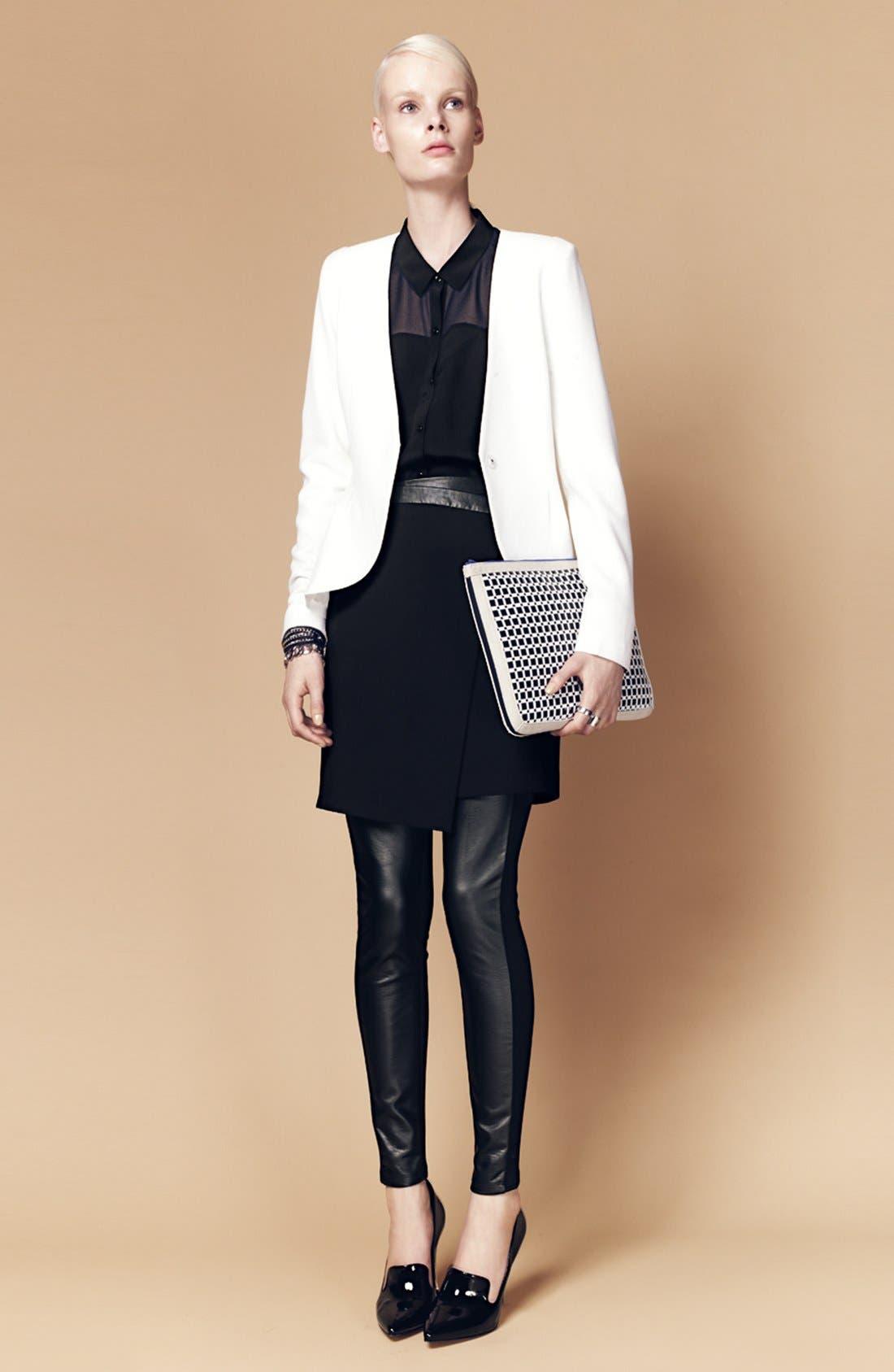 Alternate Image 8  - Trouvé Faux Leather Front Leggings