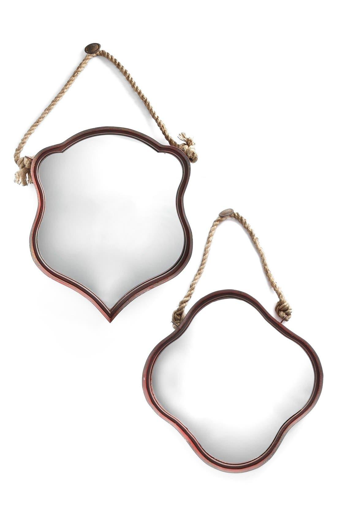 Alternate Image 1 Selected - Metal Frame Mirror Set