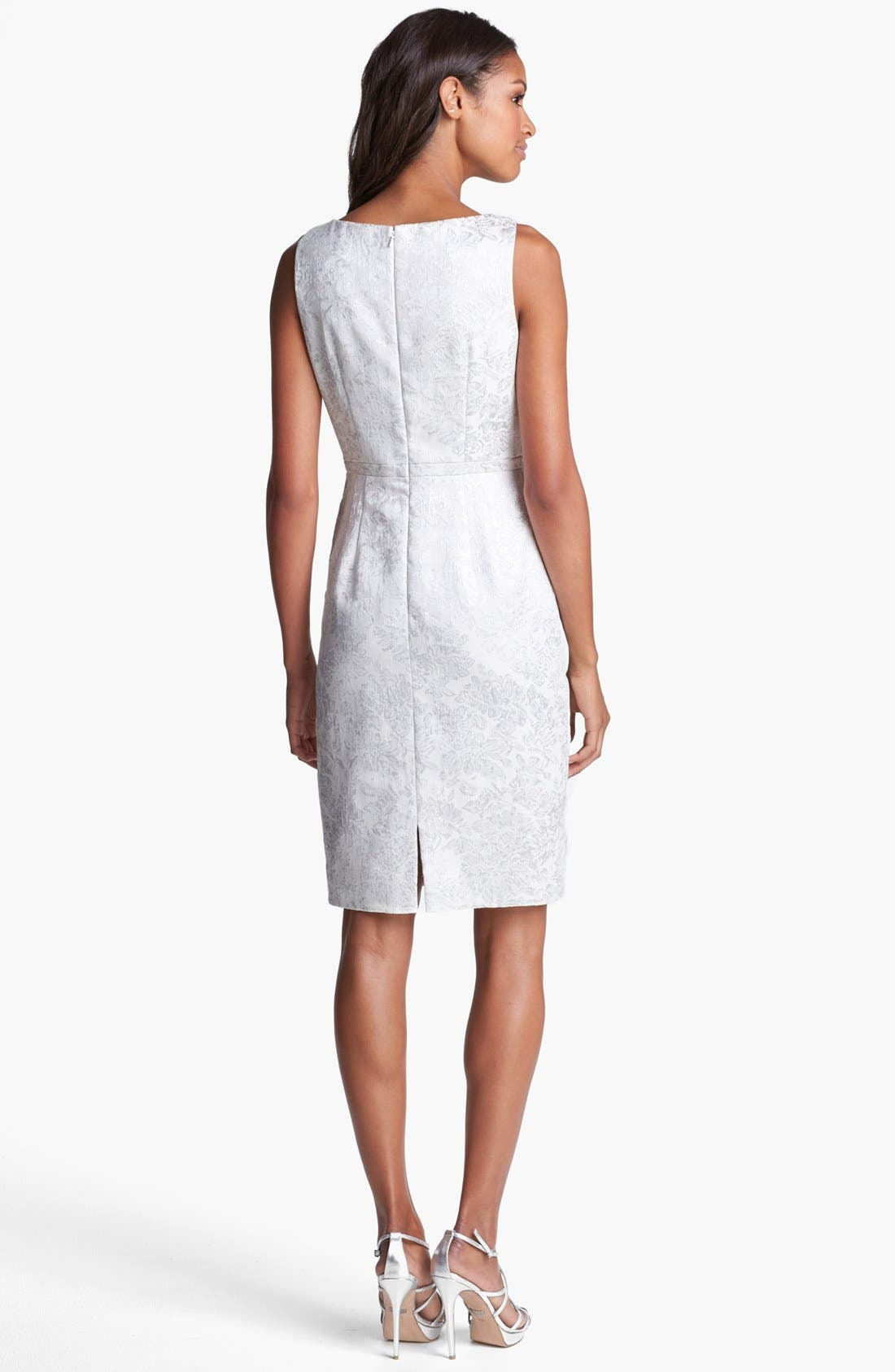 Alternate Image 2  - Carmen Marc Valvo Brocade Sheath Dress
