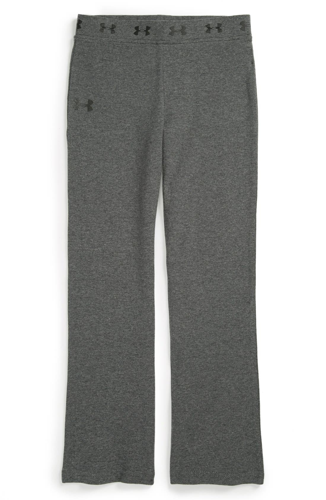 Alternate Image 1 Selected - Under Armour 'Logo' Yoga Pants (Little Girls)