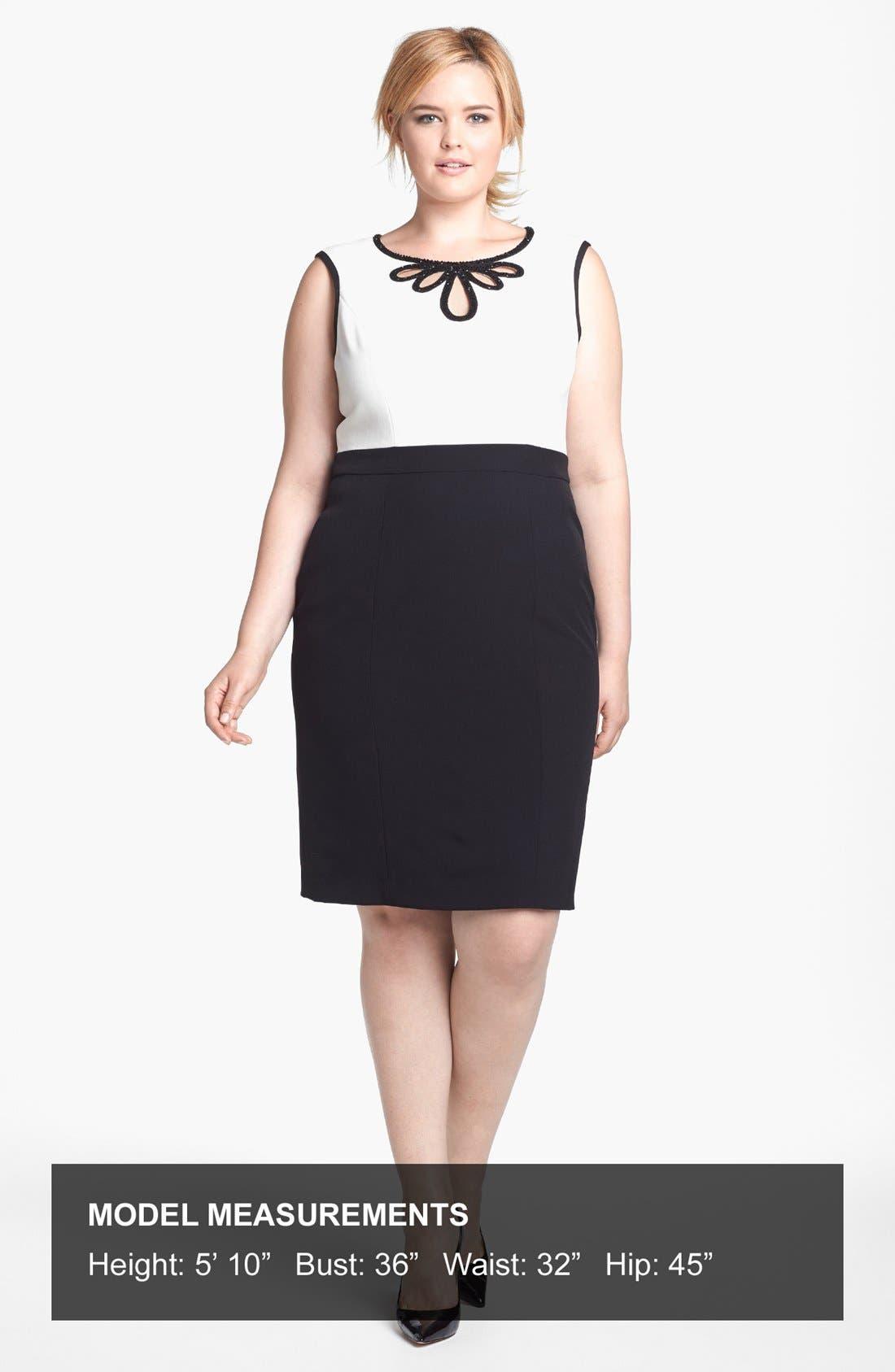 Alternate Image 4  - Adrianna Papell Embellished Crepe Sheath Dress (Plus Size)