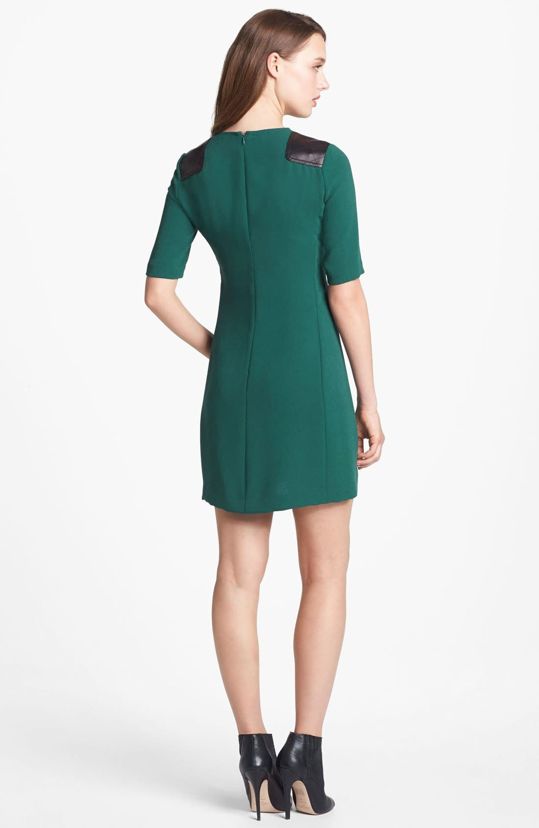 Alternate Image 2  - MARC BY MARC JACOBS 'Sparks' Crepe & Leather Sheath Dress