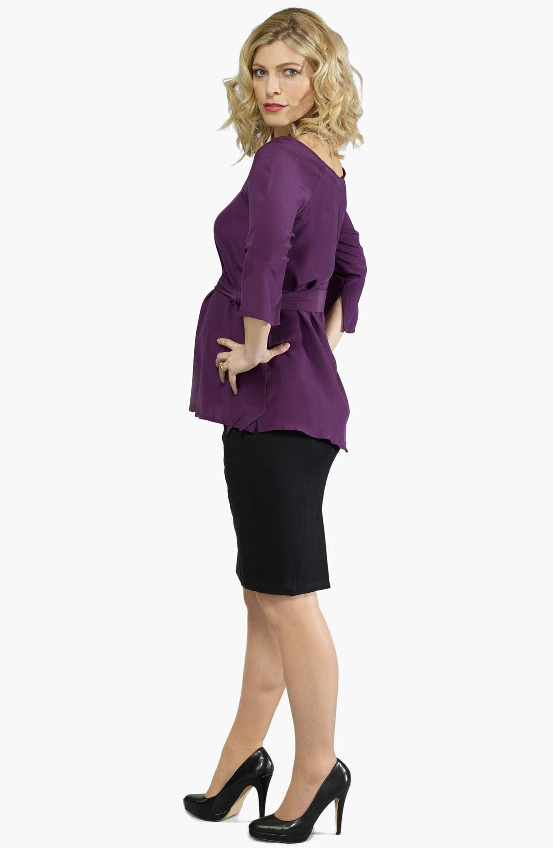 Alternate Image 4  - Eva Alexander London Tailored Ponte Knit Maternity Pencil Skirt
