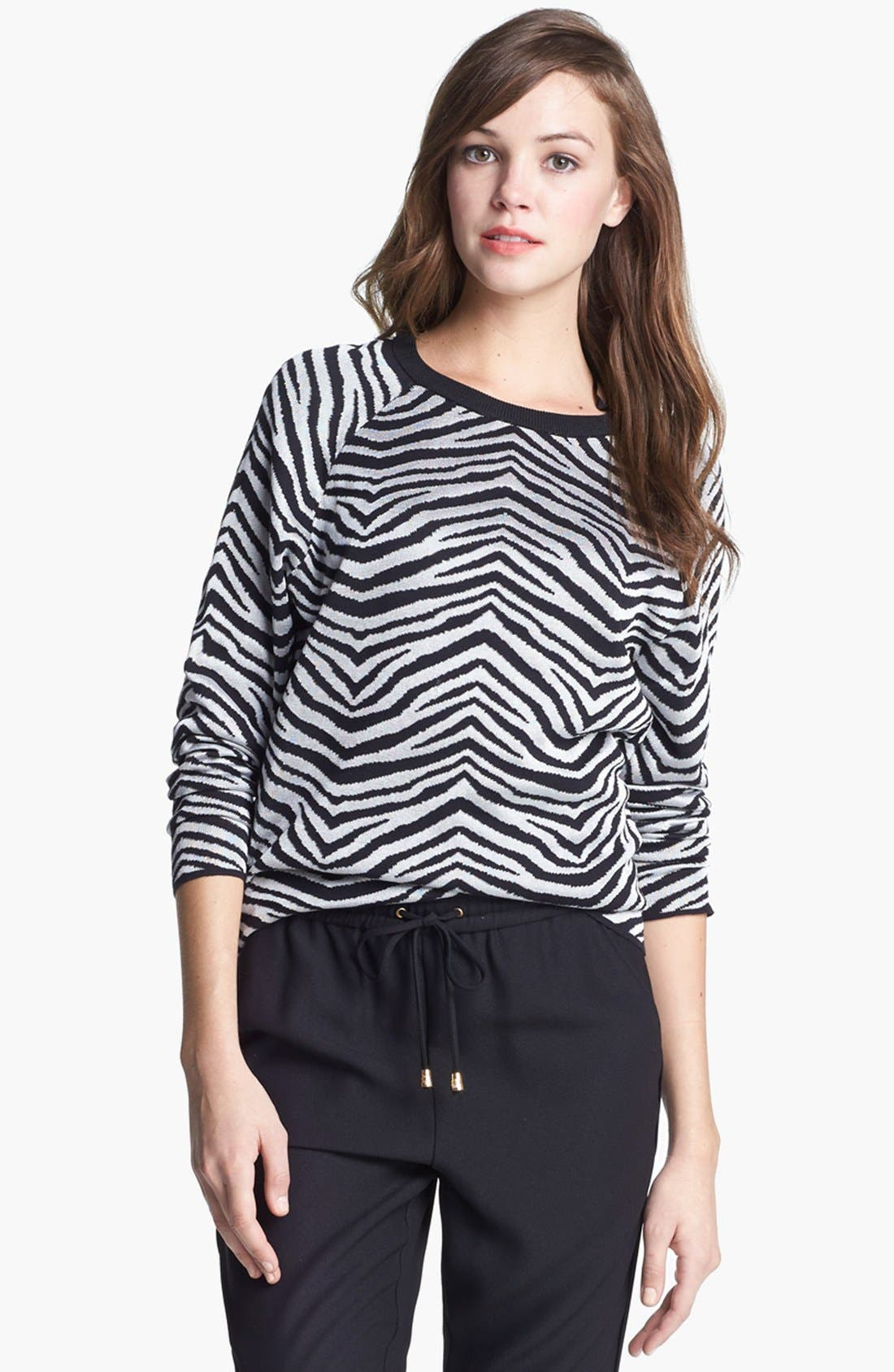 Alternate Image 1 Selected - Vince Camuto Zebra Stripe Top (Regular & Petite)