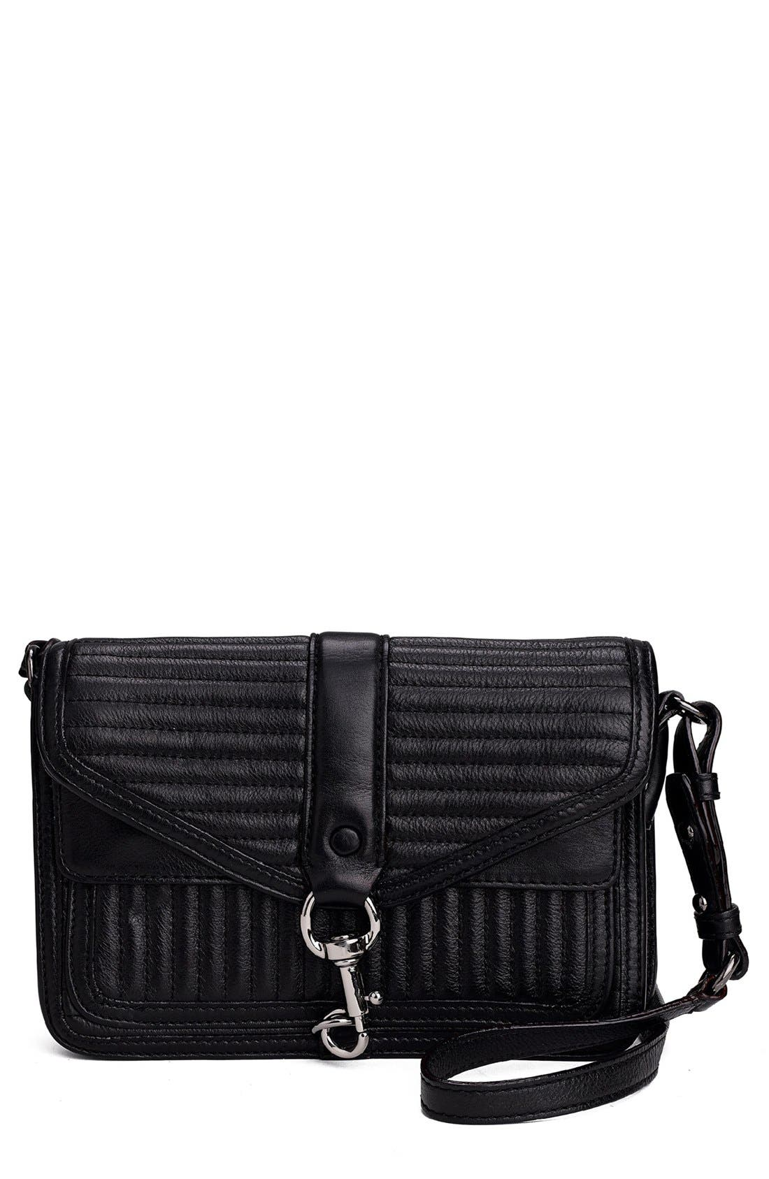 Alternate Image 1 Selected - Rebecca Minkoff 'Hudson - Moto Mini' Crossbody Bag